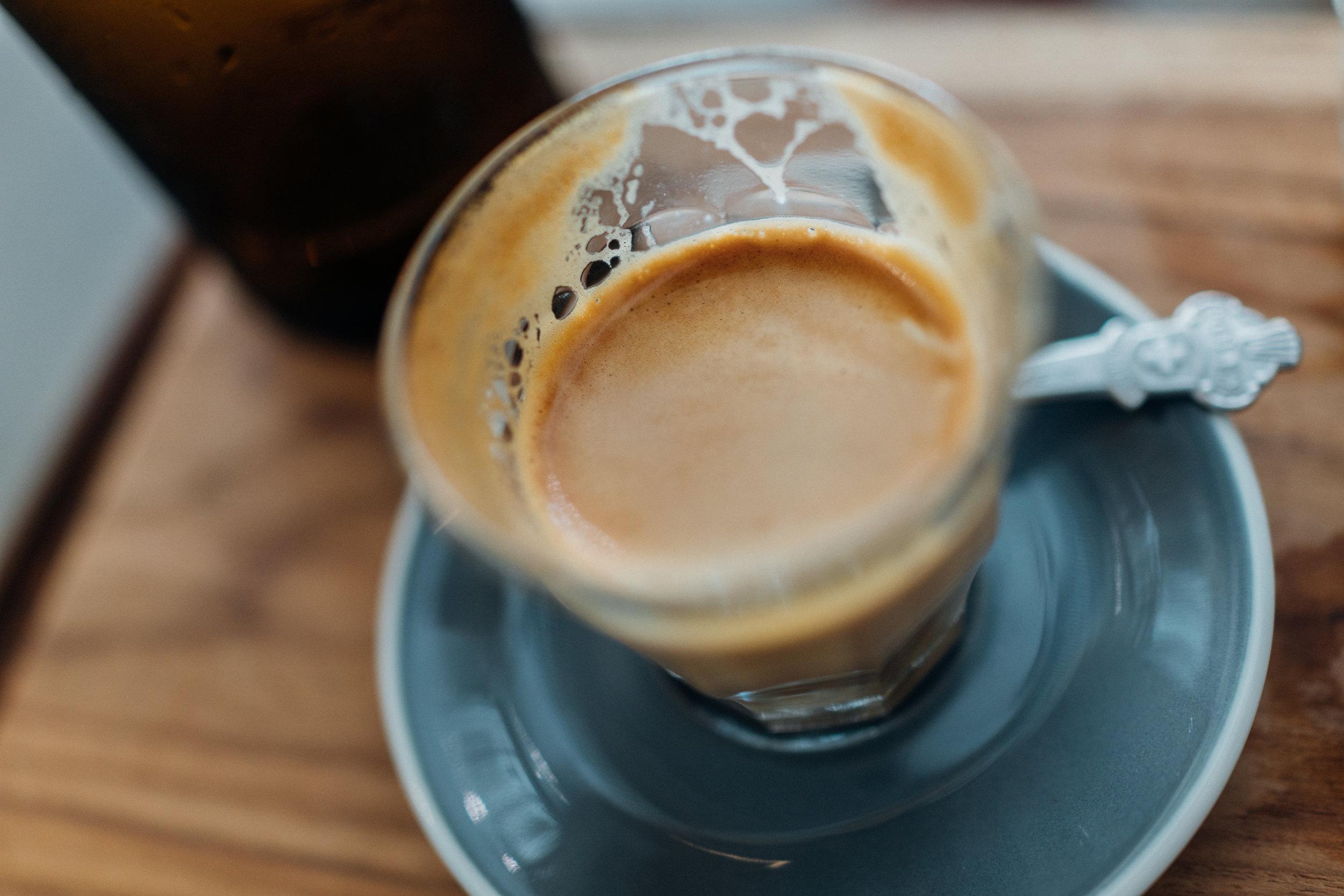 A Piccolo at Omnia Cafe