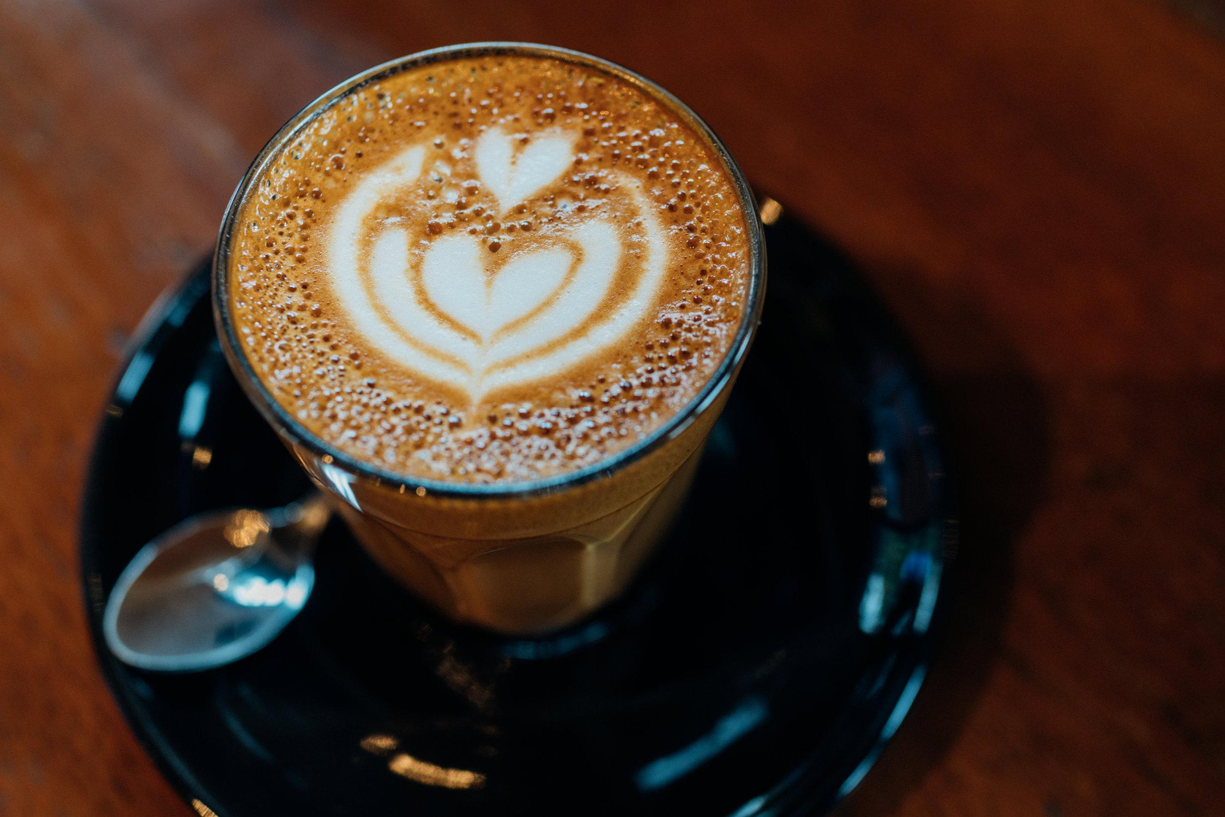 A Piccolo at Akha Ama Coffee La Fattoria