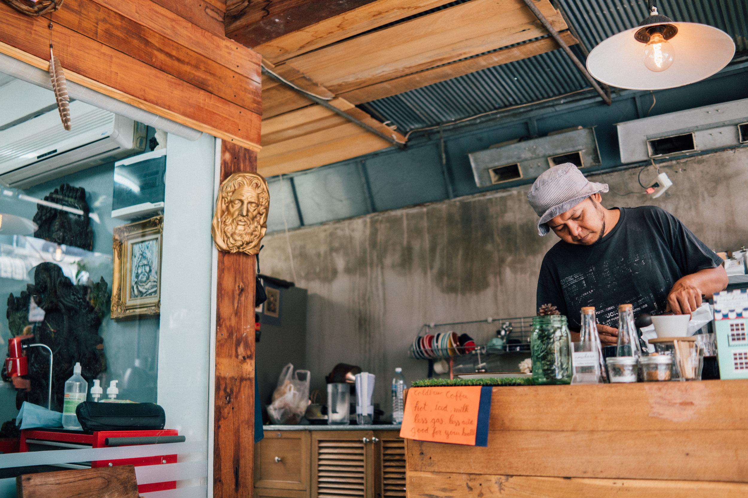 Trakool Roikaew of Nowhere Coffee Brewers