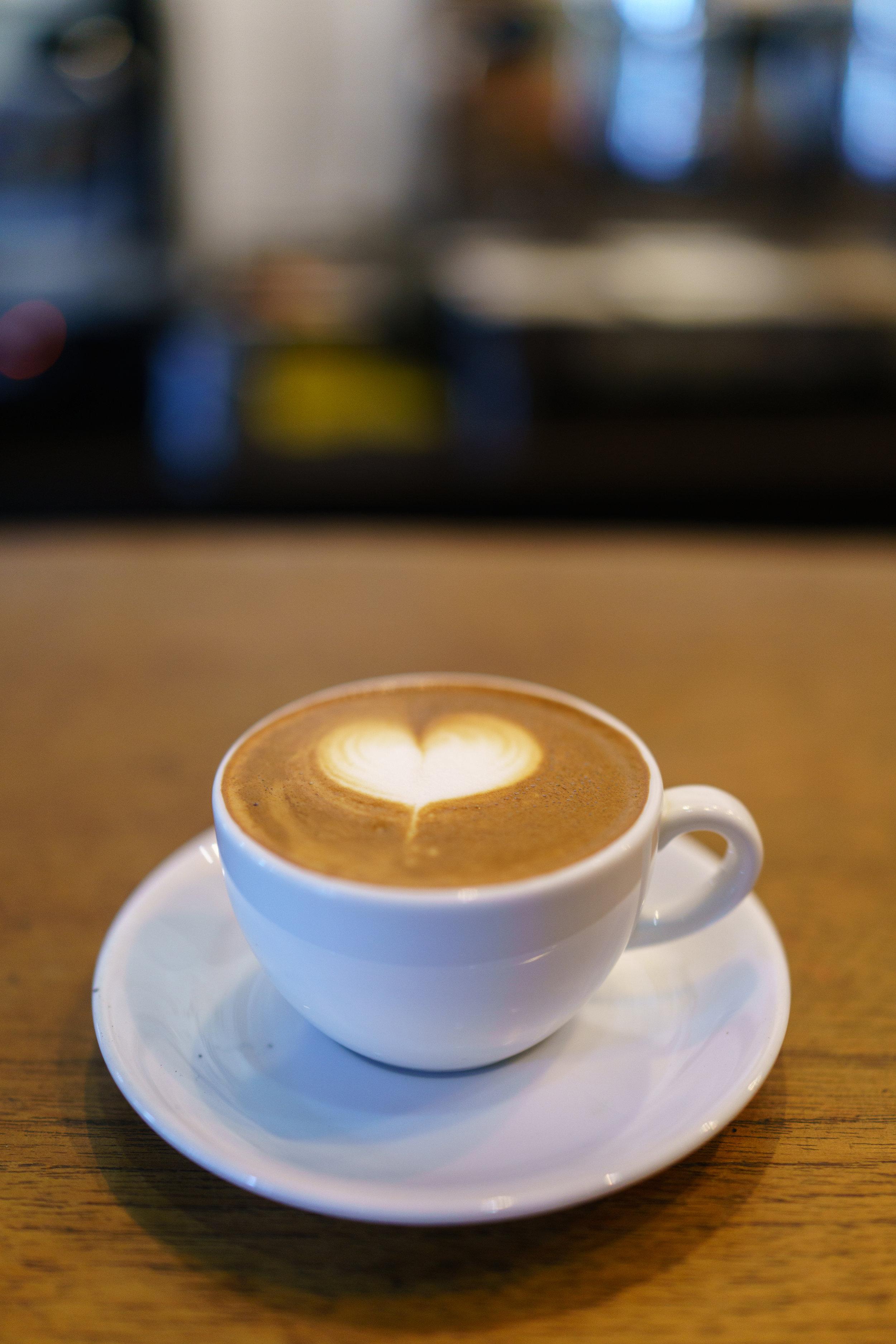A Piccolo at Impresso Espresso Bar