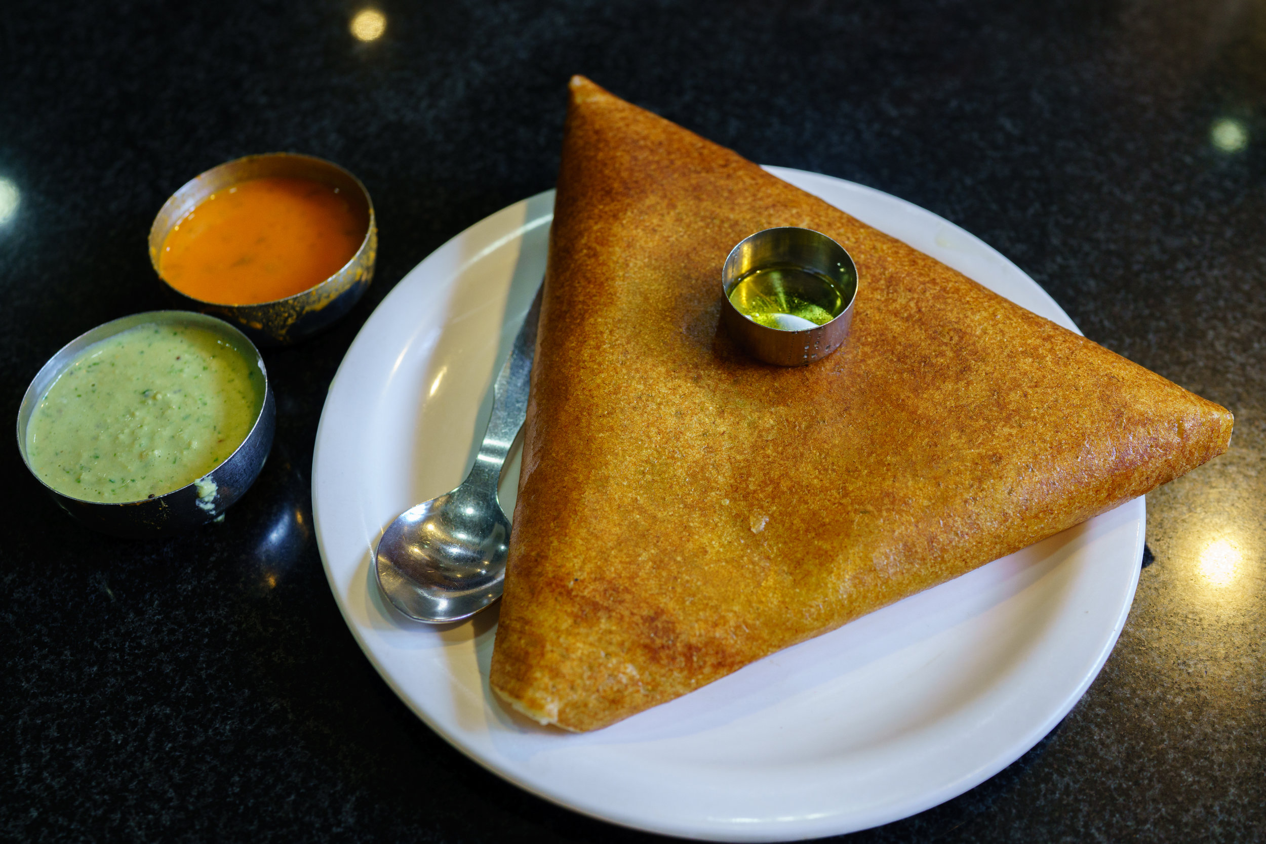 Glorious masala dosa at MTR, Indiranagar