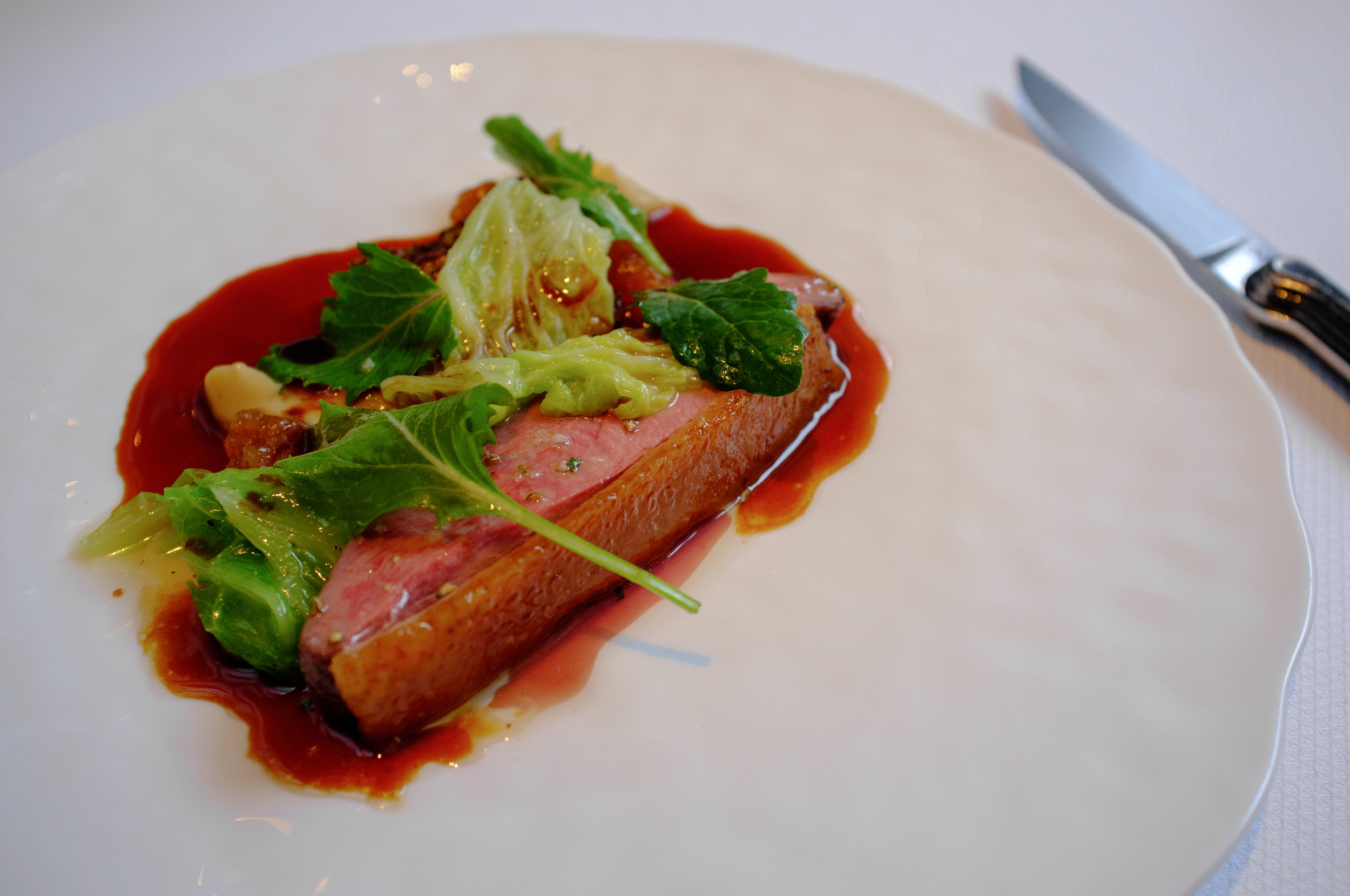 Duck en Chartreuse, Quince and Green Cabbage at The Modern, New York City