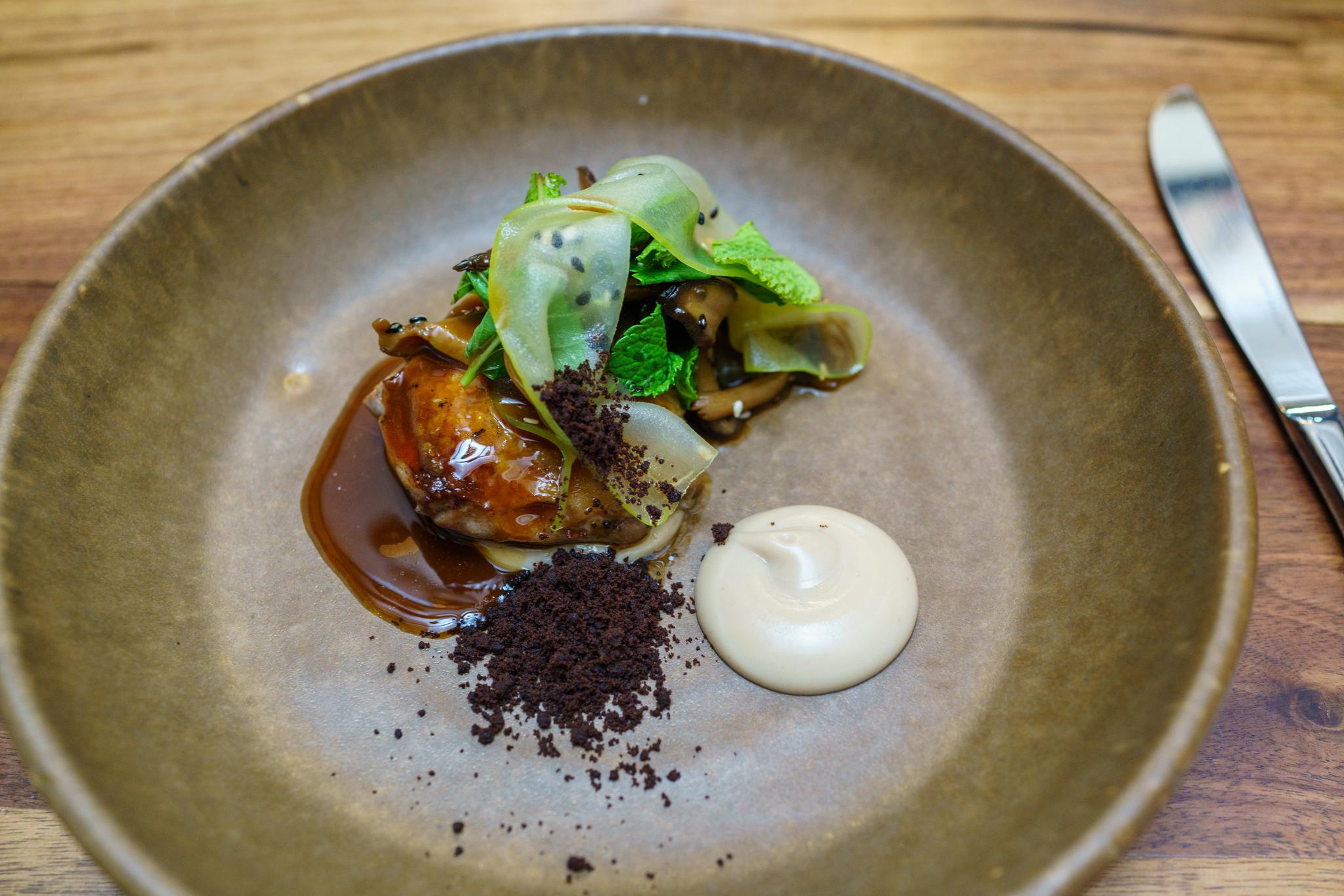 Roasted Quail, Chestnut, Mushroom, Mint