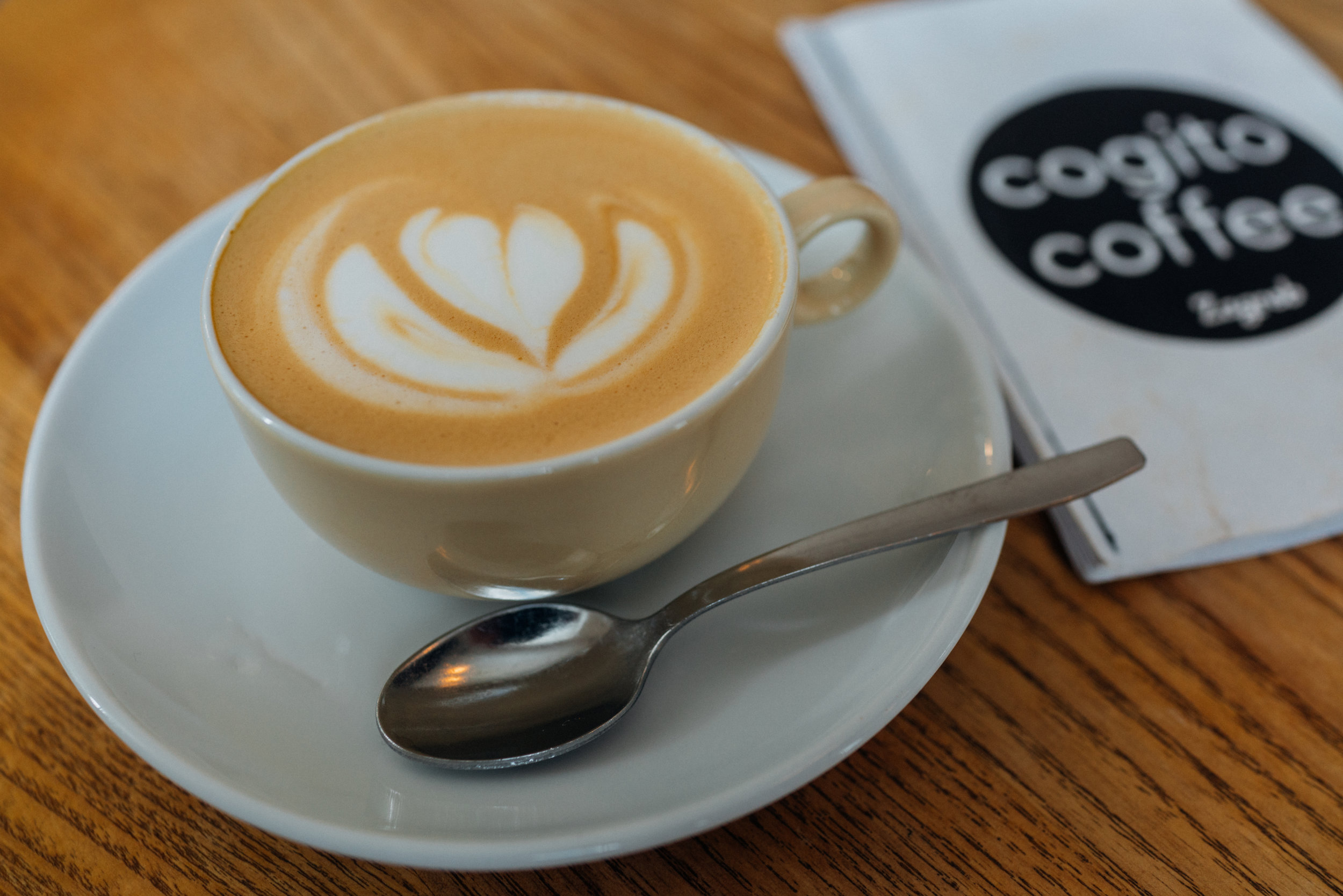 A Flat White at Cogito Coffee