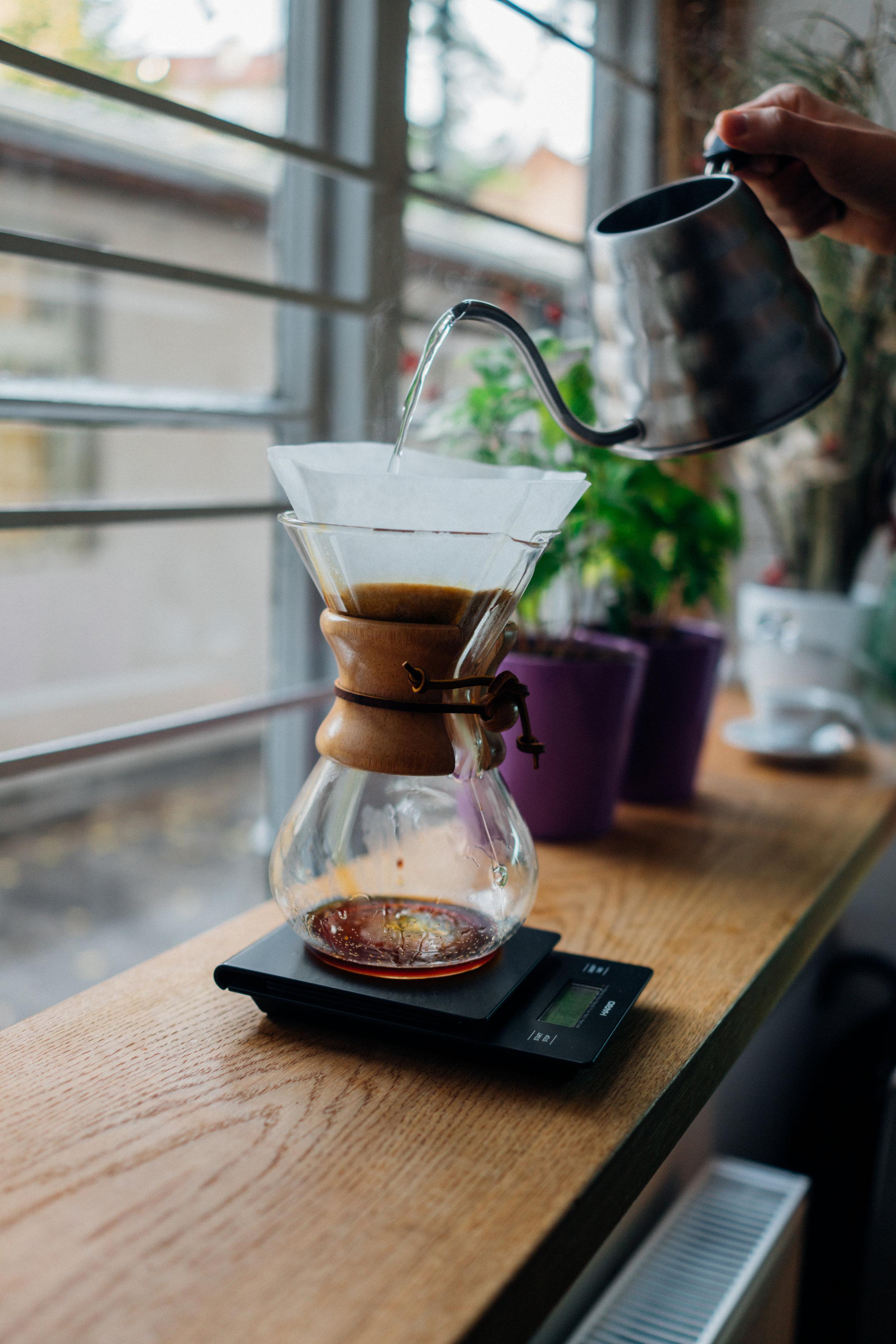 A Chemex at Cogito Coffee