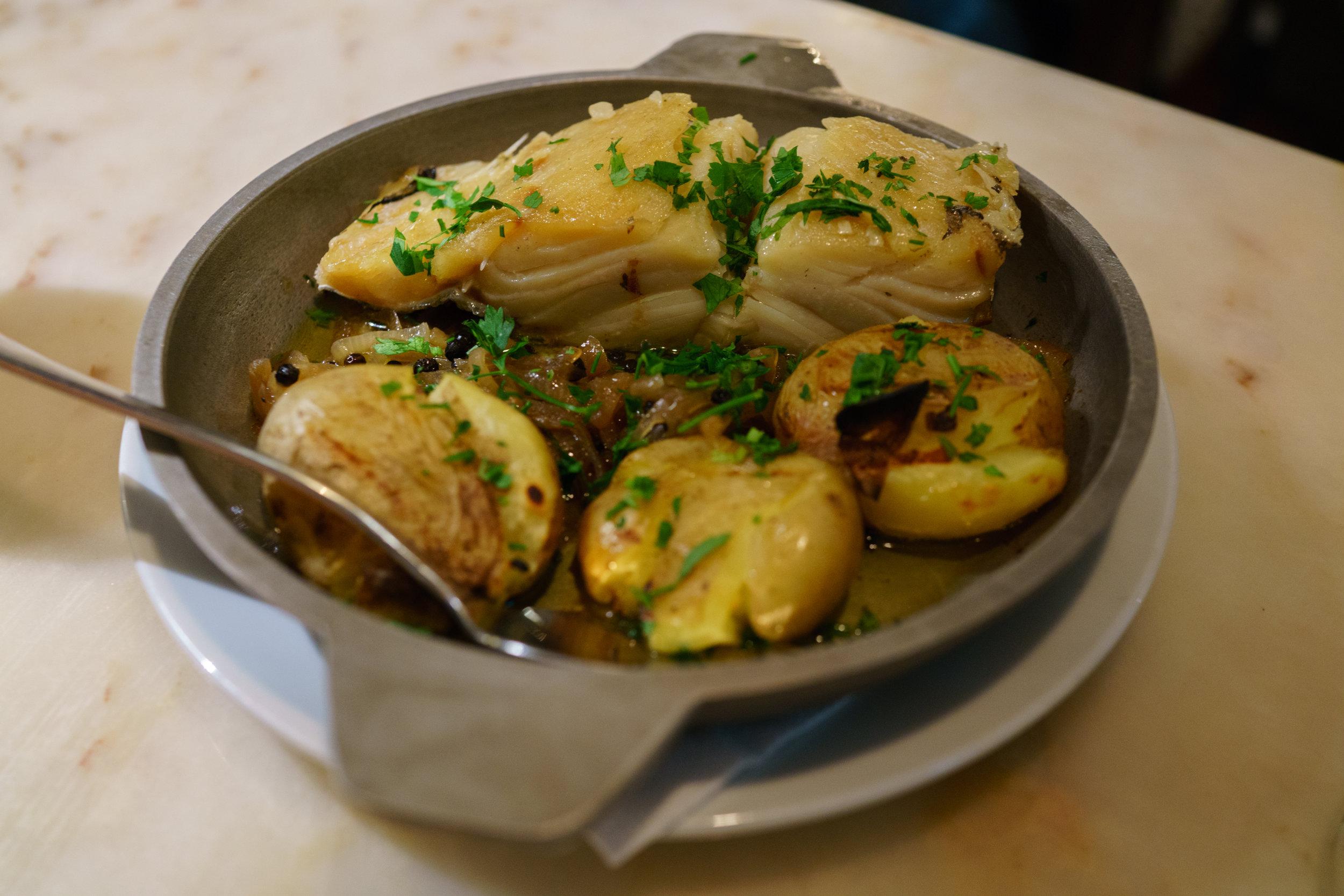 Bacalhau , or salted cod, a Portuguese staple