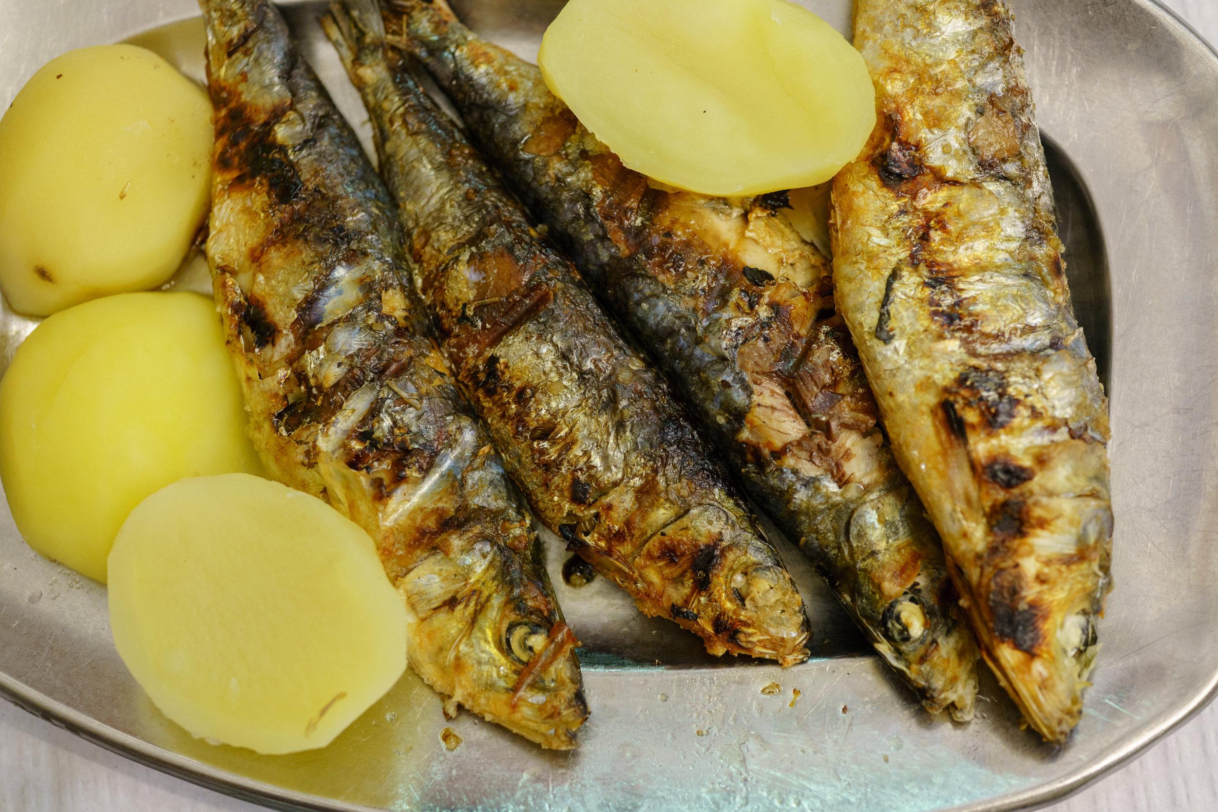 Grilled Sardines at Restaurante A Merendinha do Arco