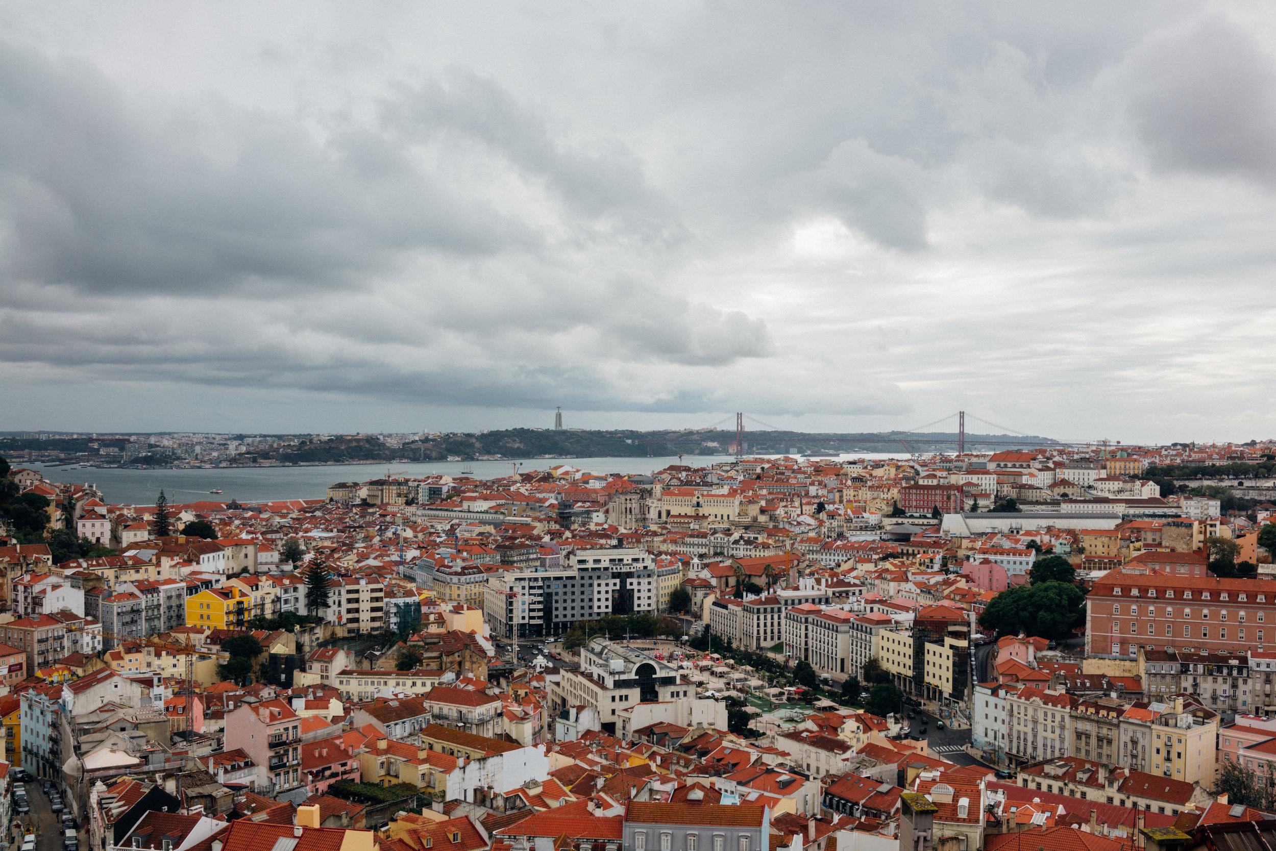 View of Lisbon from  Miradouro da Senhora do Monte