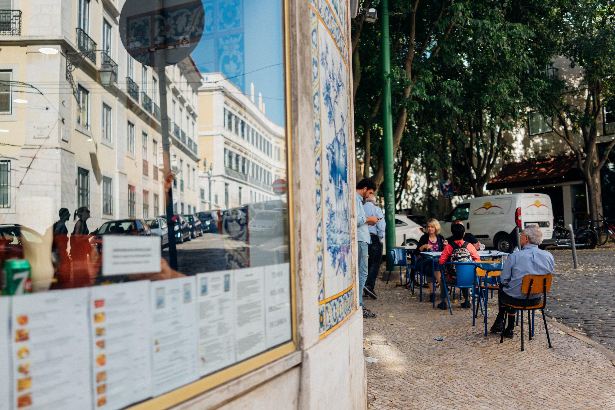 A local café not far from our Bairro Alto apartment