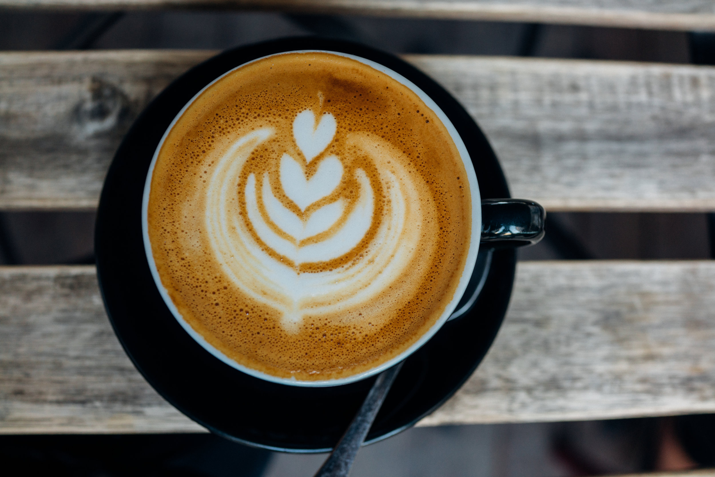 A Flat White at Fabrica Cofffee Roasters