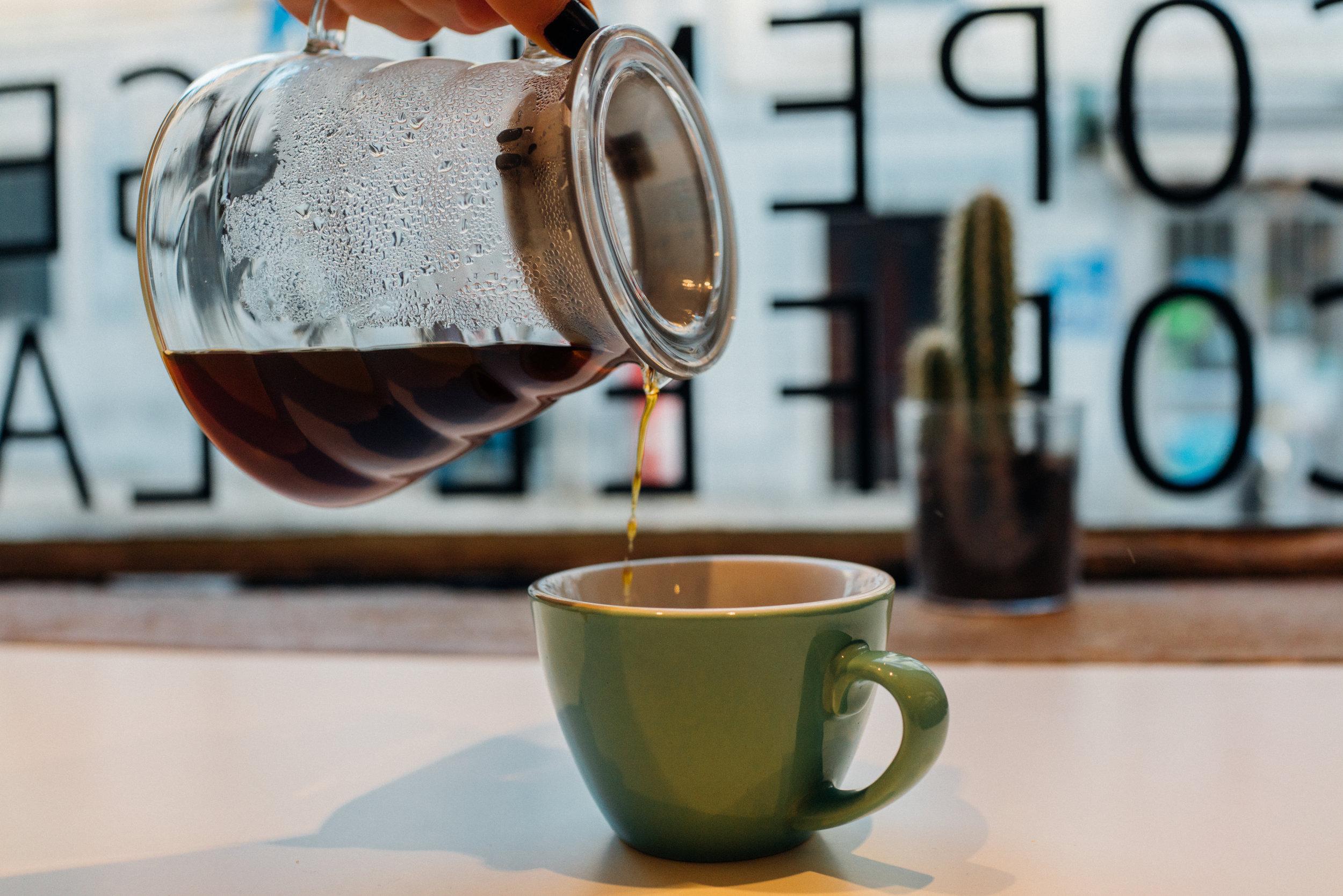 A pourover at Copenhagen Coffee Lab