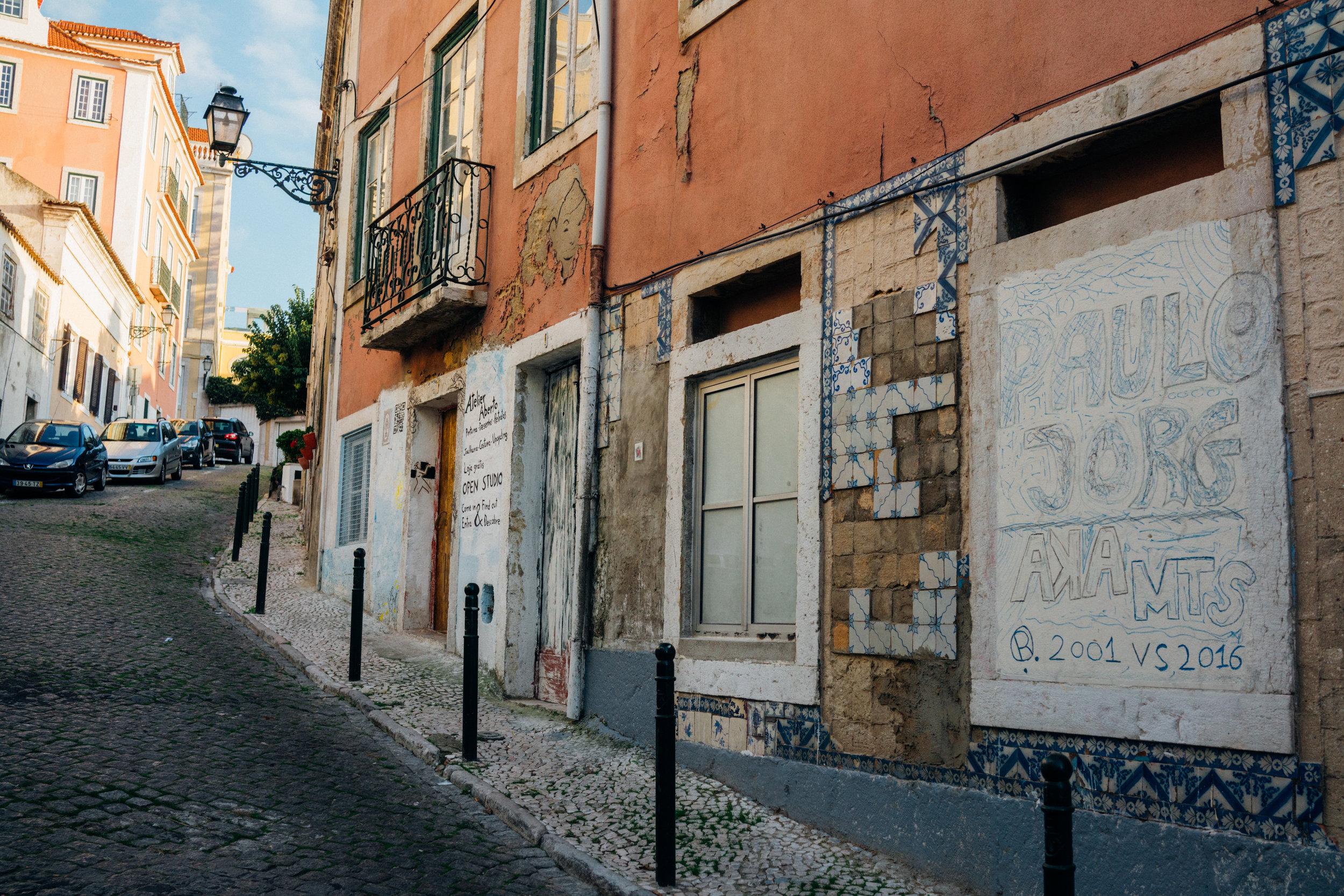 Copenhagen Coffee Lab located on a quiet street in Lisbon's Príncipe Real neighborhood