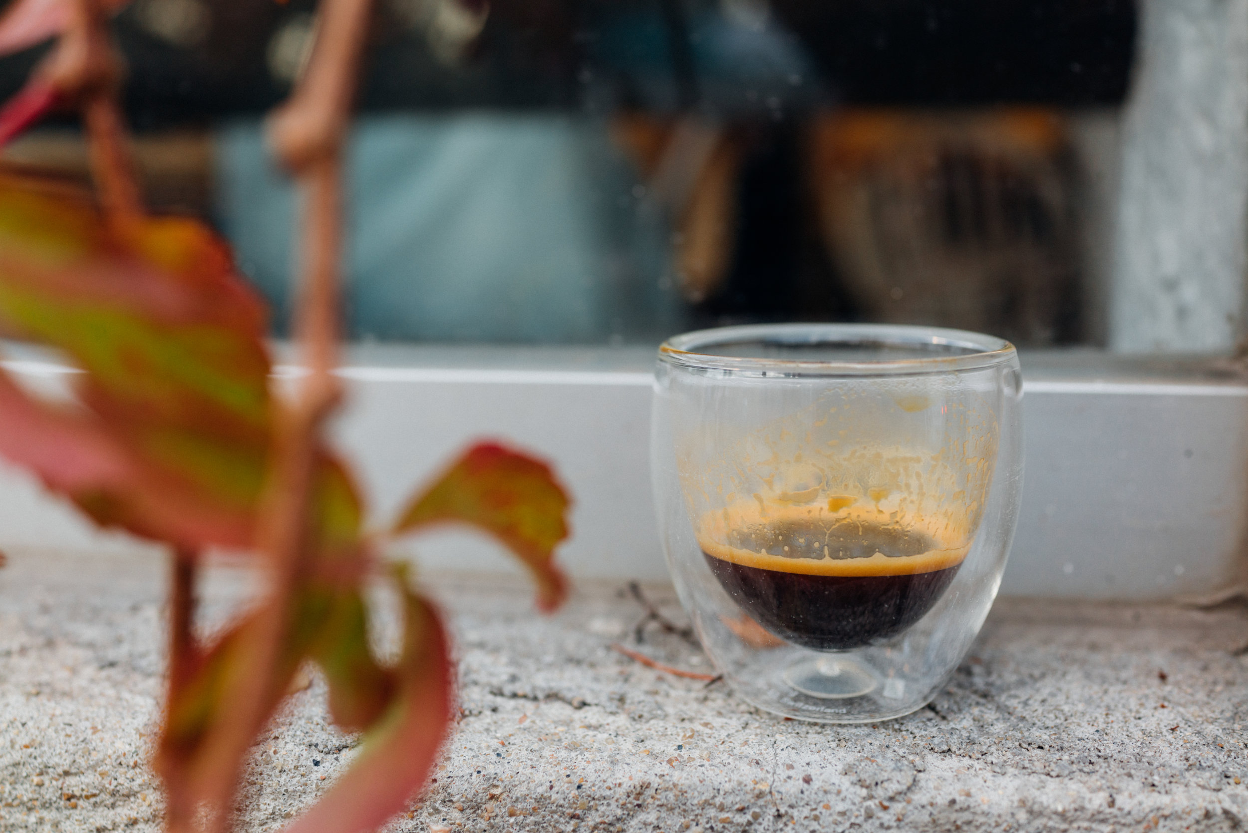 An espresso at Wish Coffee House