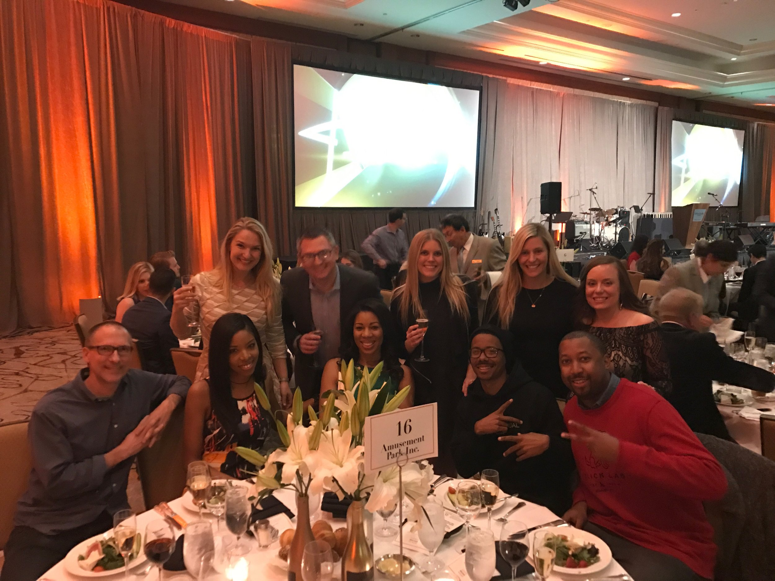 Employees celebrating at the Addy Awards