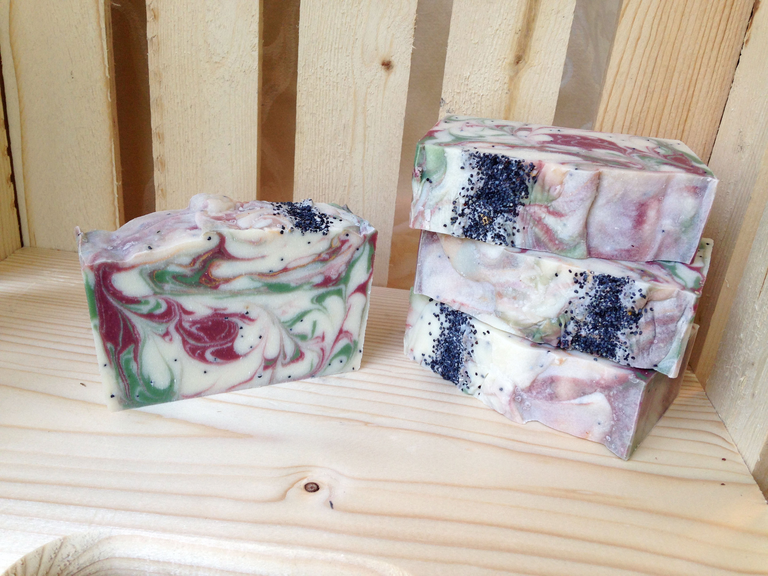 Brisk Snowy Woods Soap with Cocoa Butter & Juniper Sage Scent