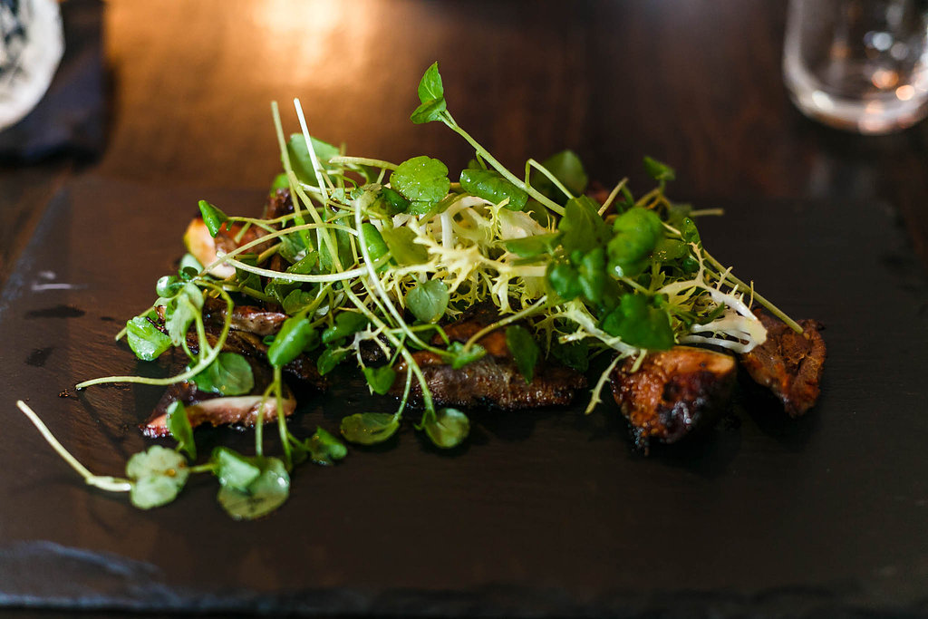 Duck and fig salad