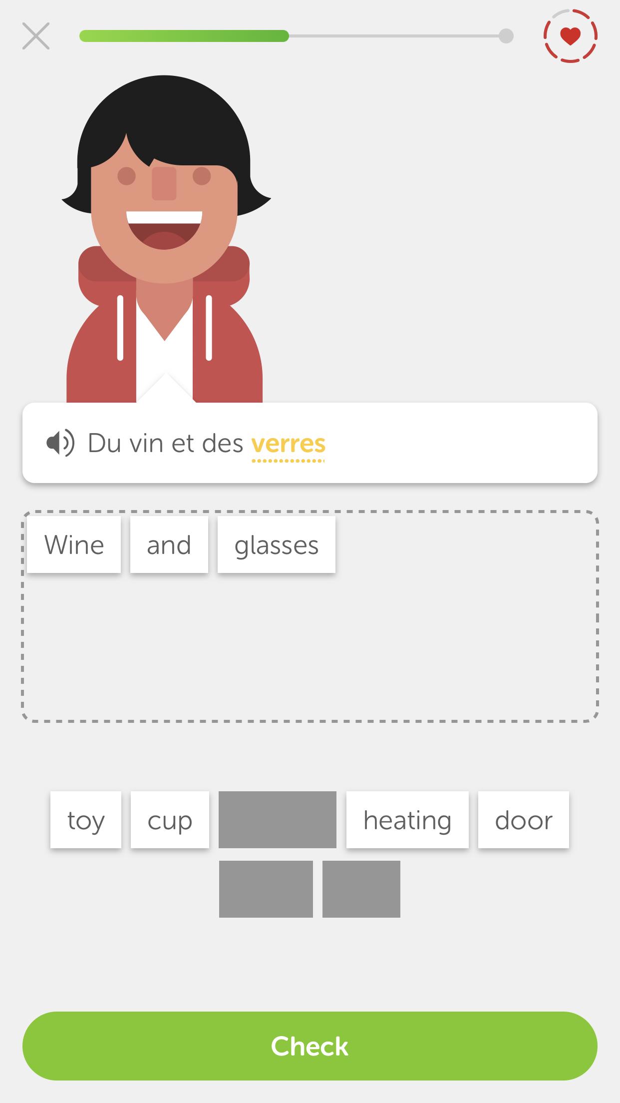 Yup, definitely French.