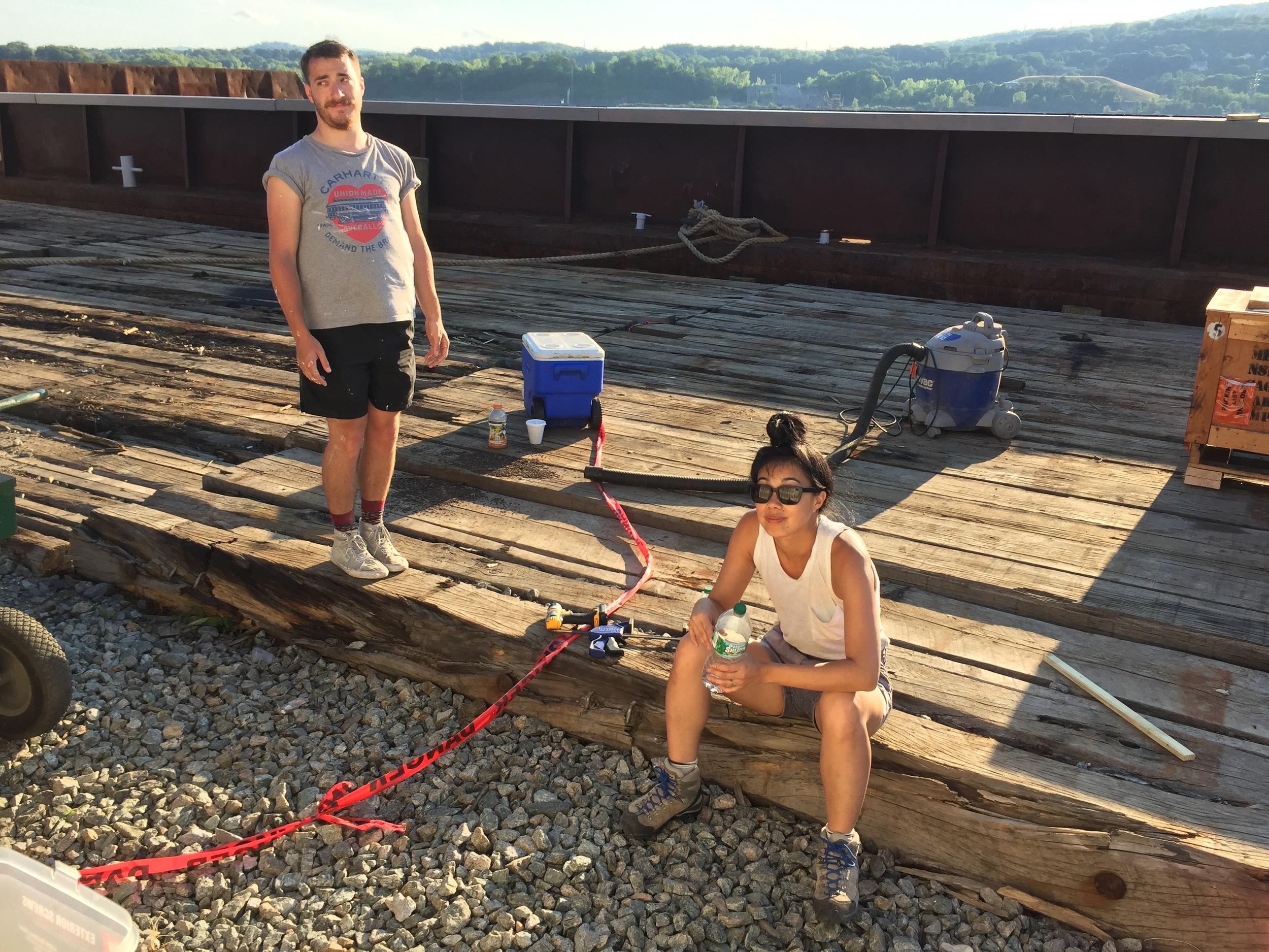 Daniel and Terri taking a break.