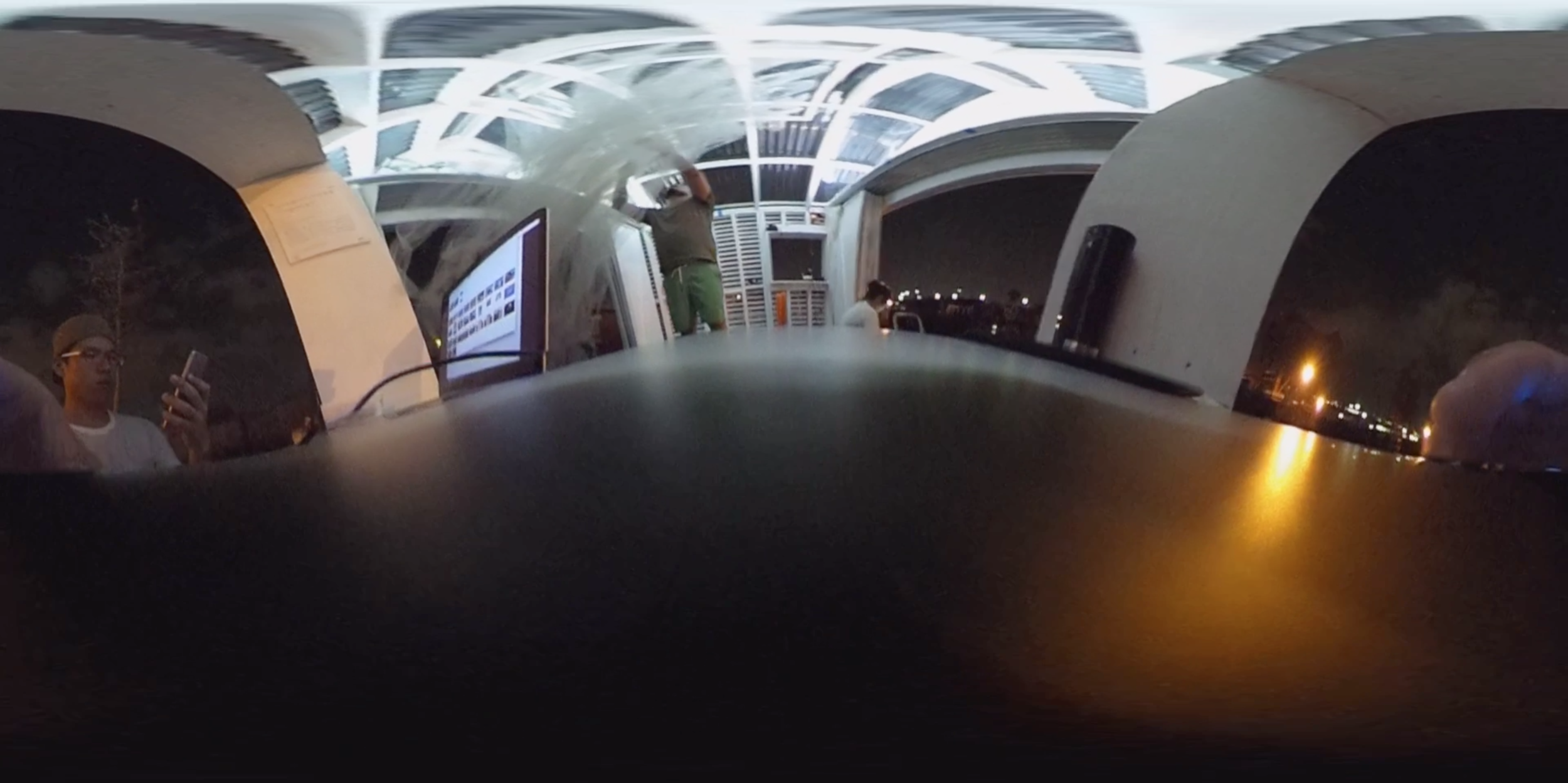 Trying out Ricoh Theta S on board Swale.