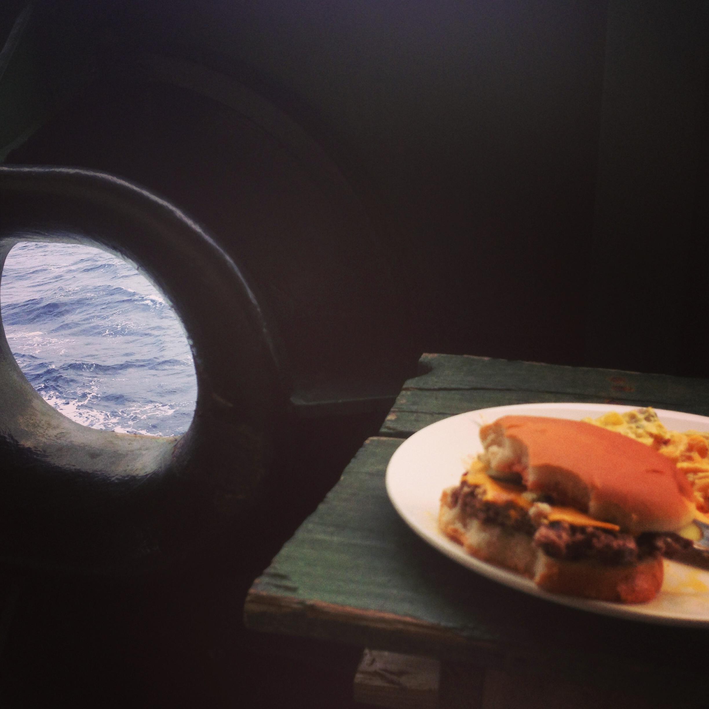 burgers at sea