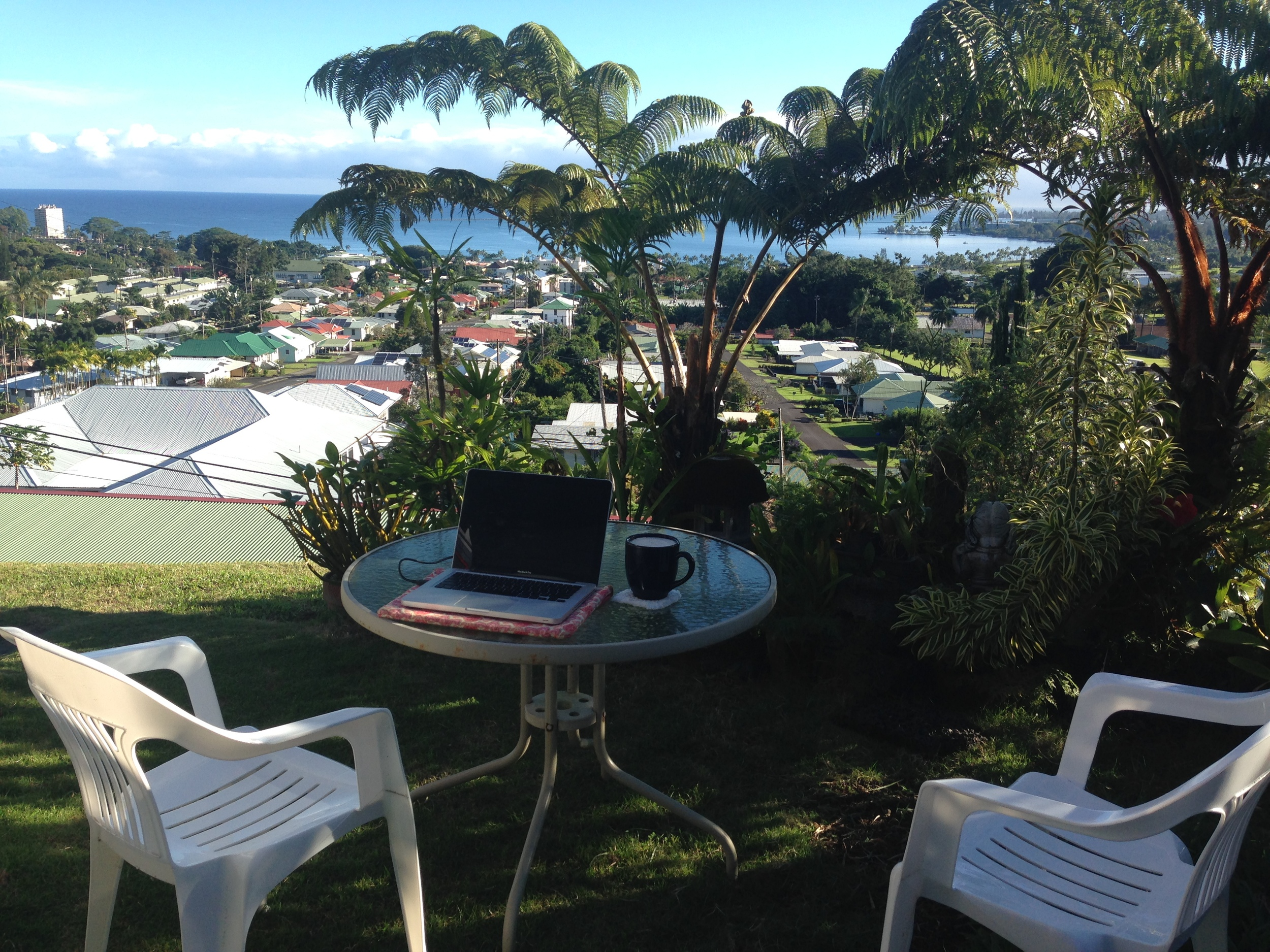 blogging station with a view