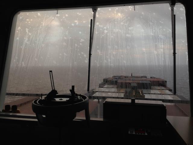 rain on the windows