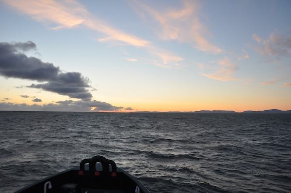 Sunset in Kotzebue Sound....at about 1am....
