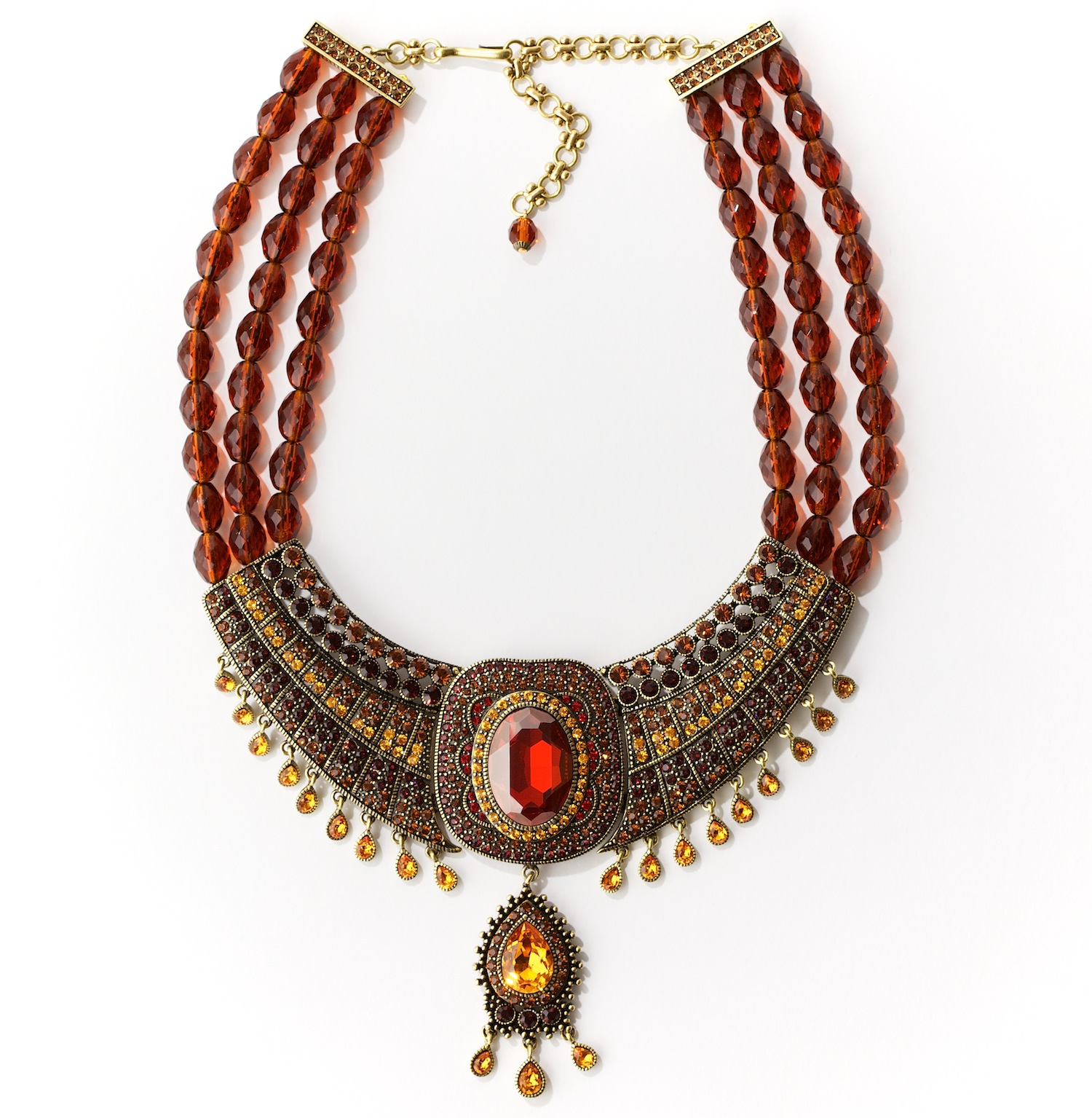Padparacha Indian Statement Necklace