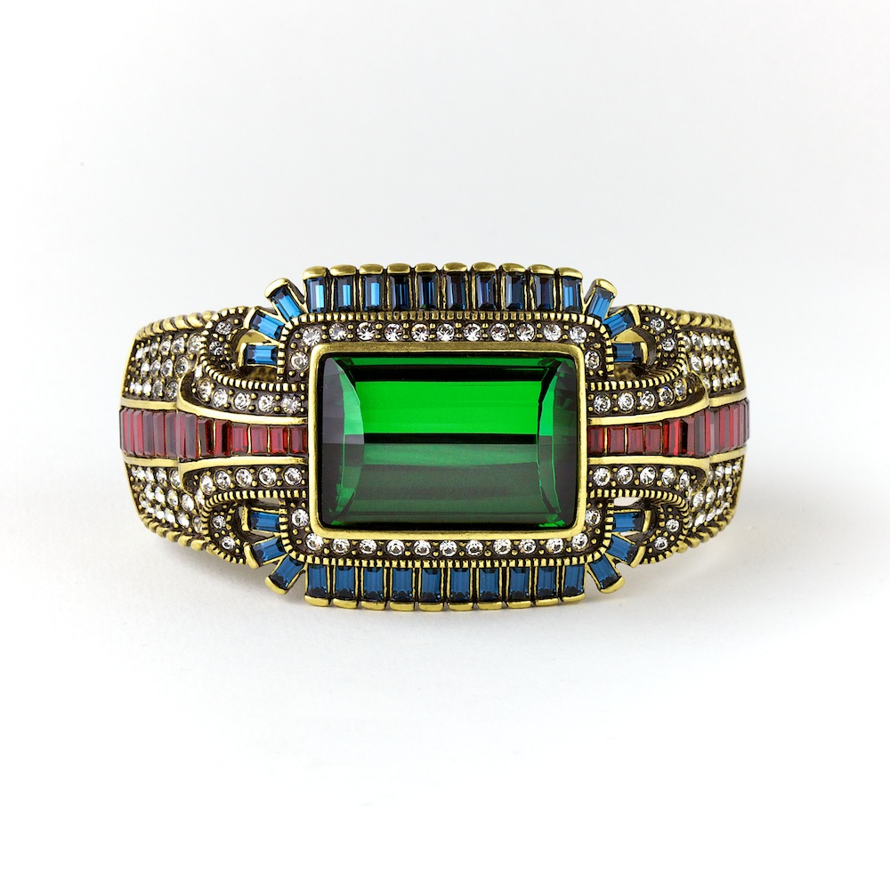 Emerald Statement Bangle