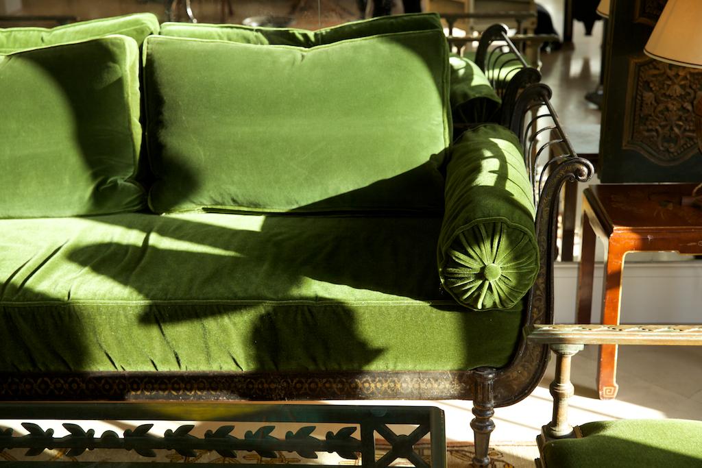 Parisian Green Velvet Daybed