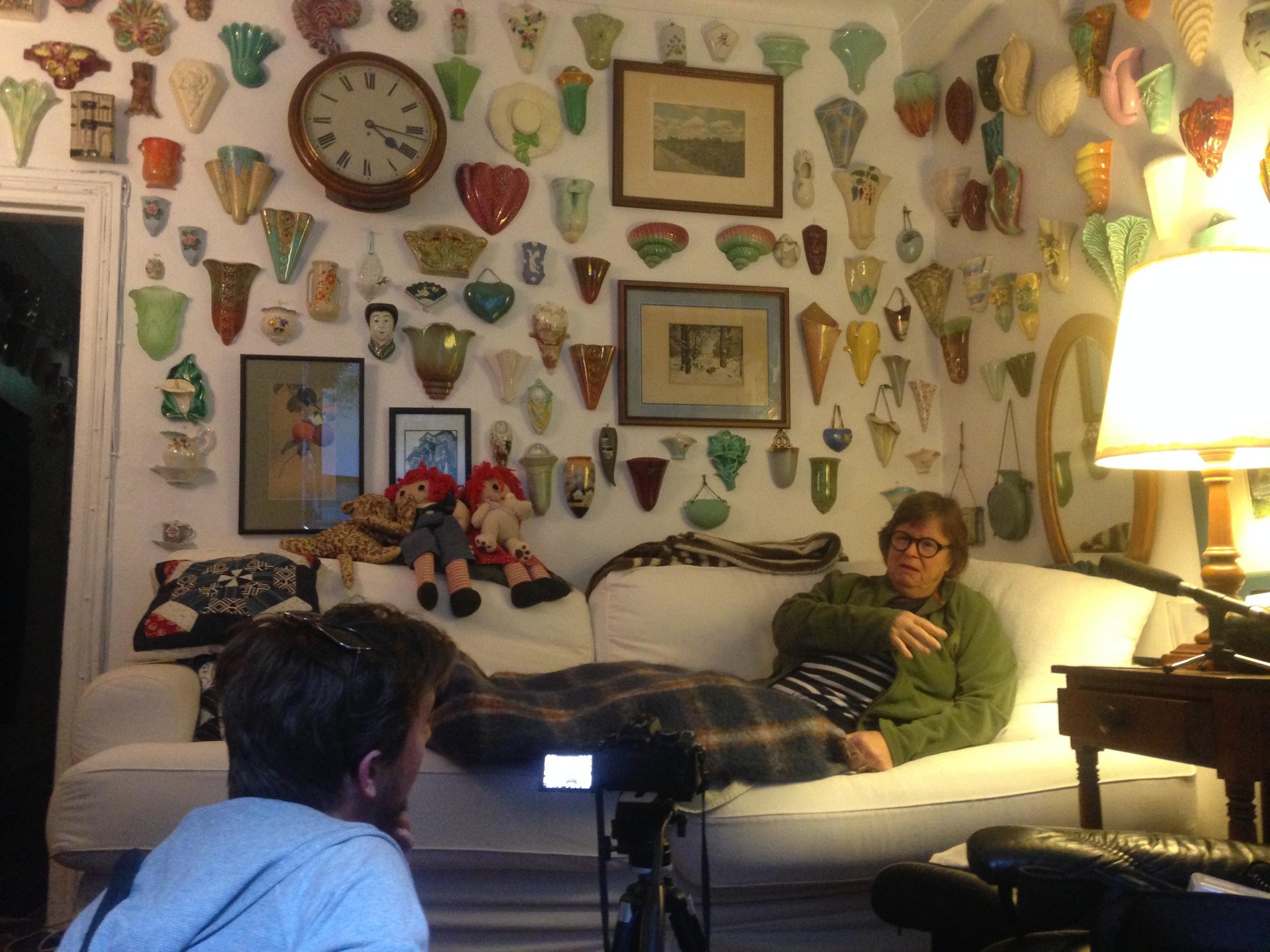 Matt filming Betsey