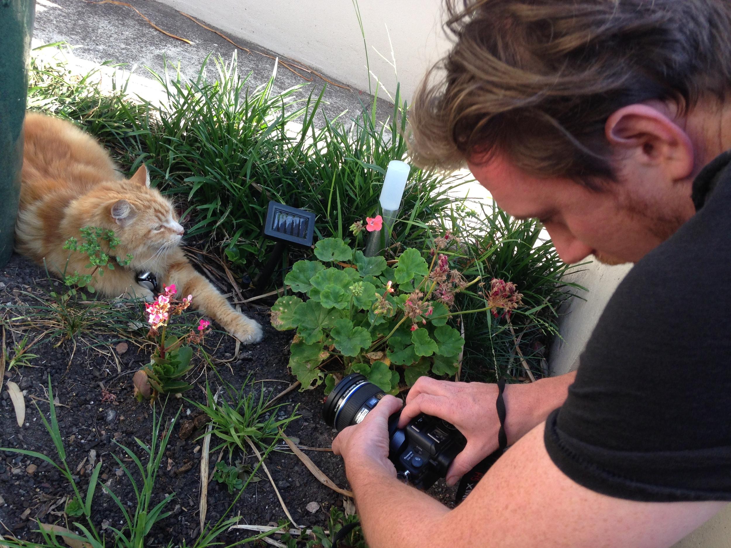 Filmmaker Matt with Jeff