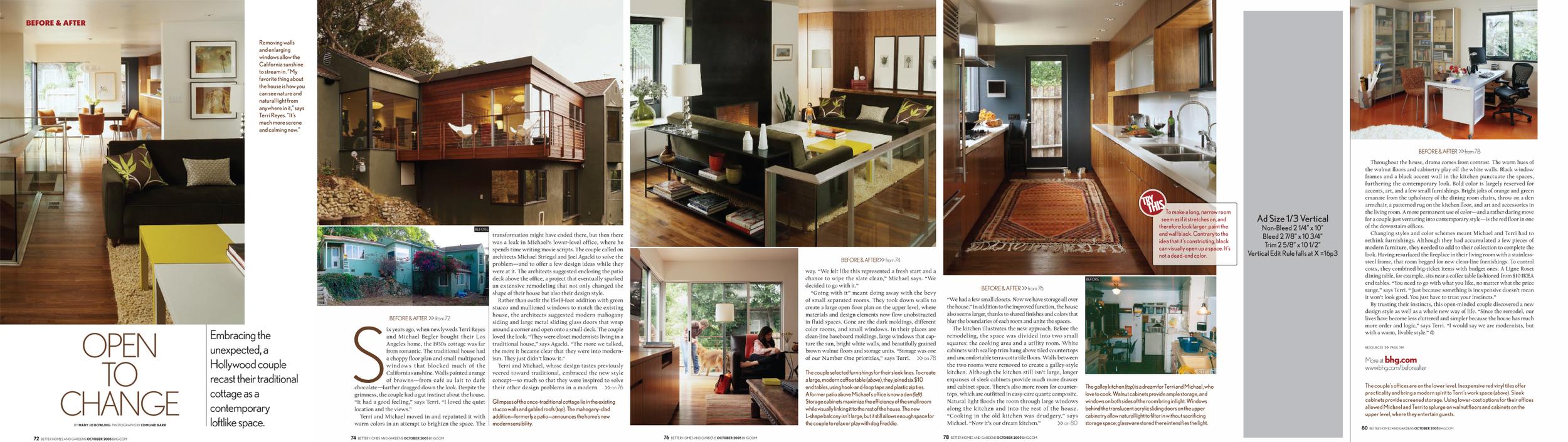 """Reyes Begler Residence: Better Homes and Garden """"Open to Change"""""""