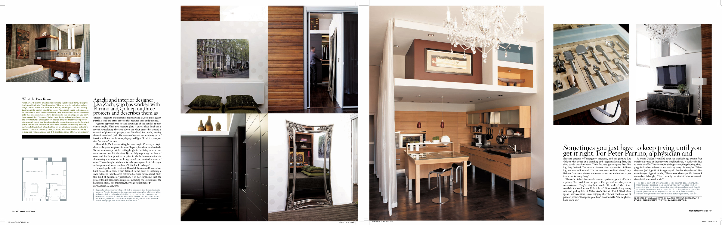 "Goldern Parrino Loft: Metropolitan Home - Glamour ""Making it Modern"""