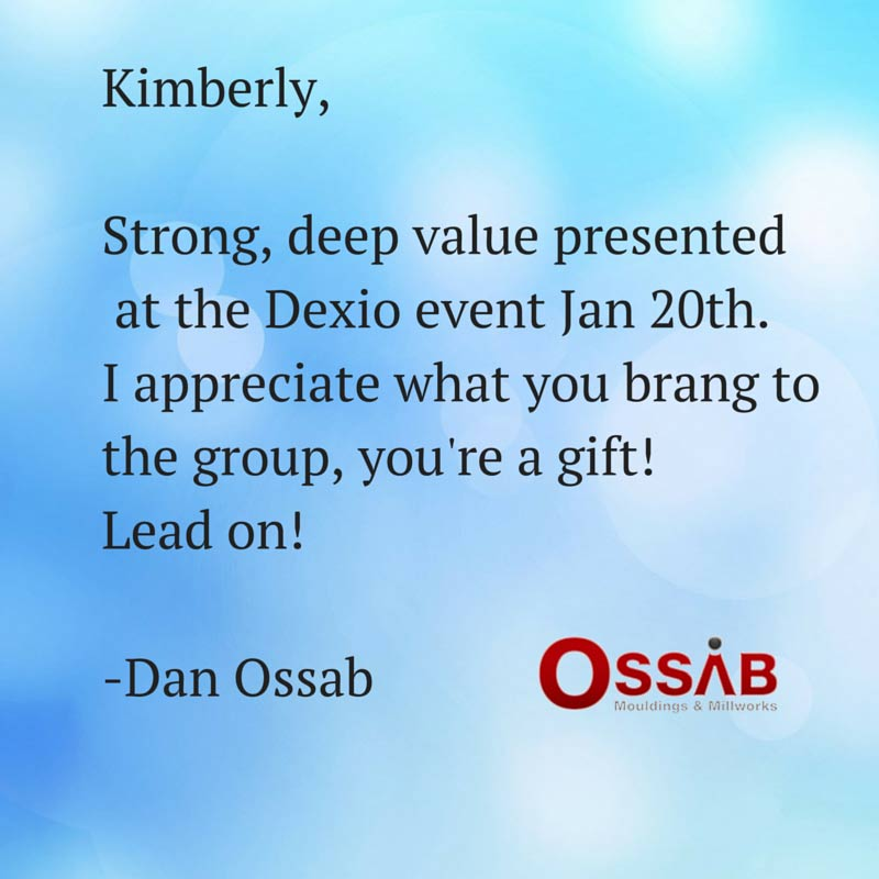 Testimonial from ossab