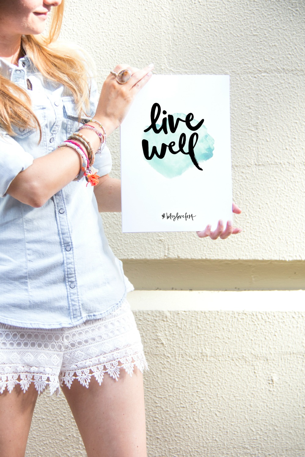 Live Well Poster