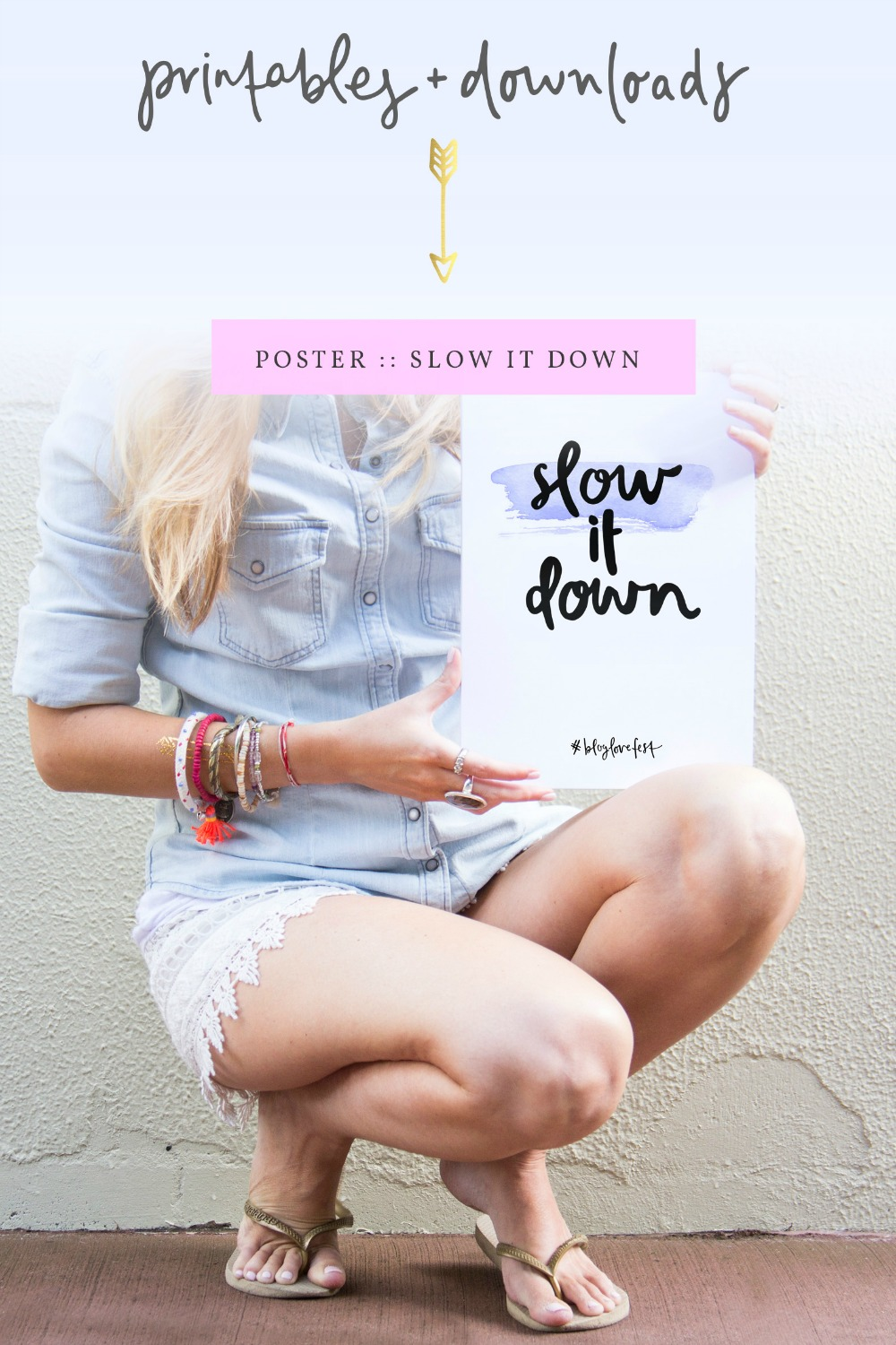 Slow Down Free Poster