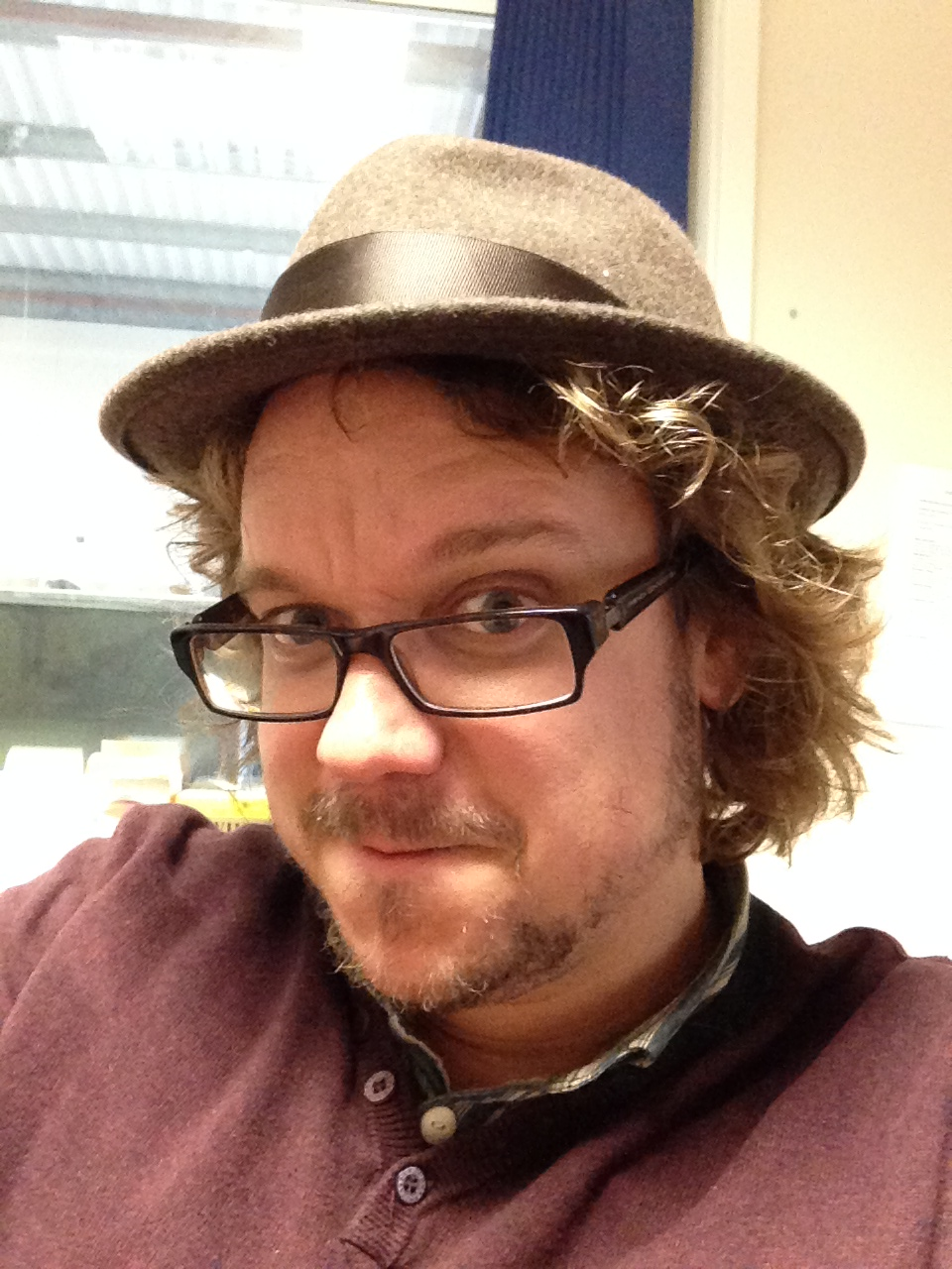 I experiment with hats.