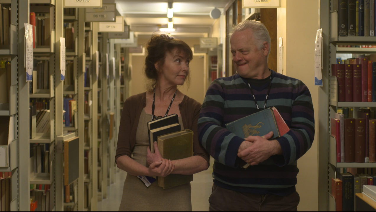 Melanie Walters as Iris and Robert Pugh as Thomas in Long Arm Films' Ex Libris