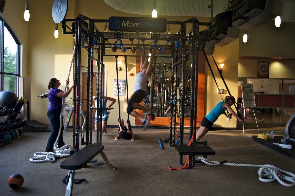 Womens functional fitness class