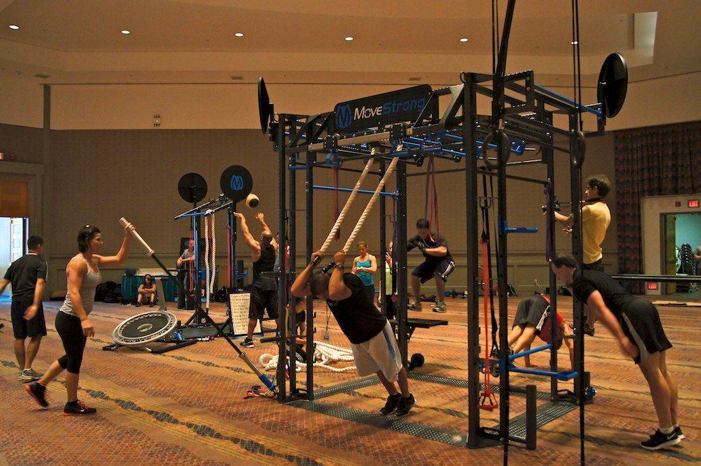 Group fitness training equipment