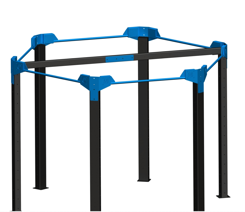 "Standard NOVA-6 FTS:   Simple design for basic bodyweight & suspension training.  11'5"" L x 10'2"" W x 8' H *"