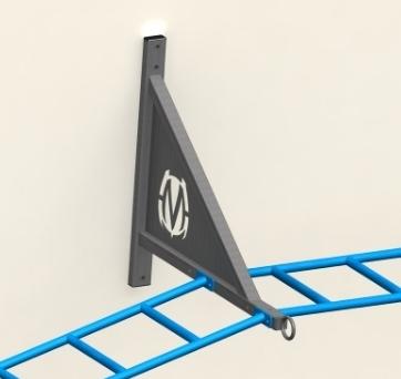(1) Dedicated eye-loop anchor point is standard per bracket.