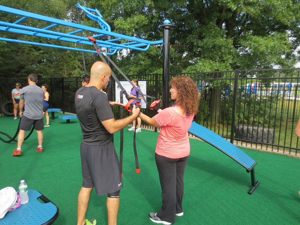 MoveStrong Trex JCC outdoor fitness