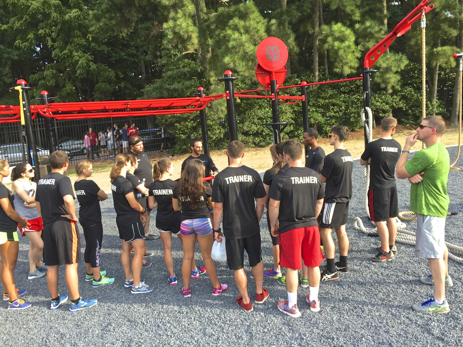 Student Trainers at NC State fit ground