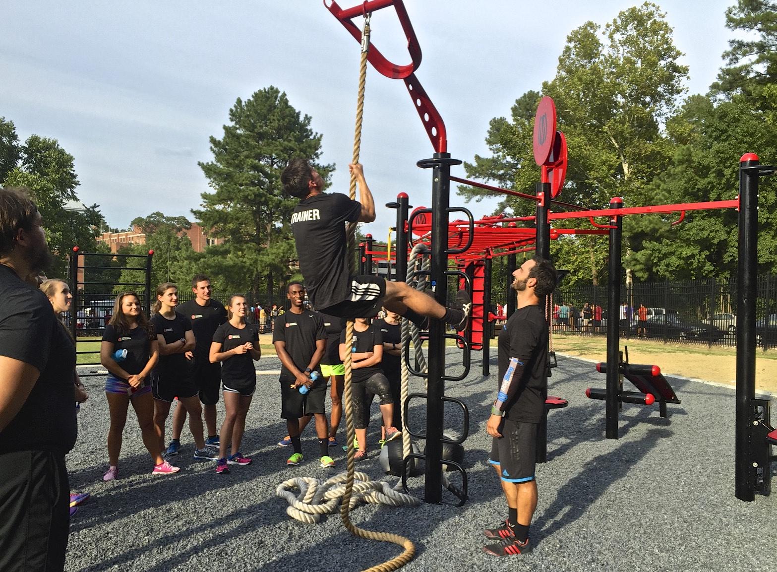 Rope climb student recreation university