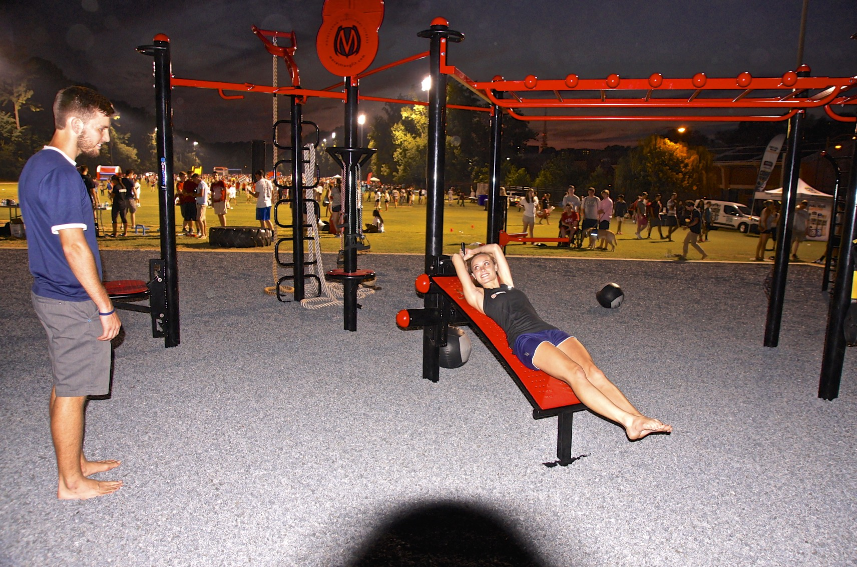 Ab bench outdoor fitness