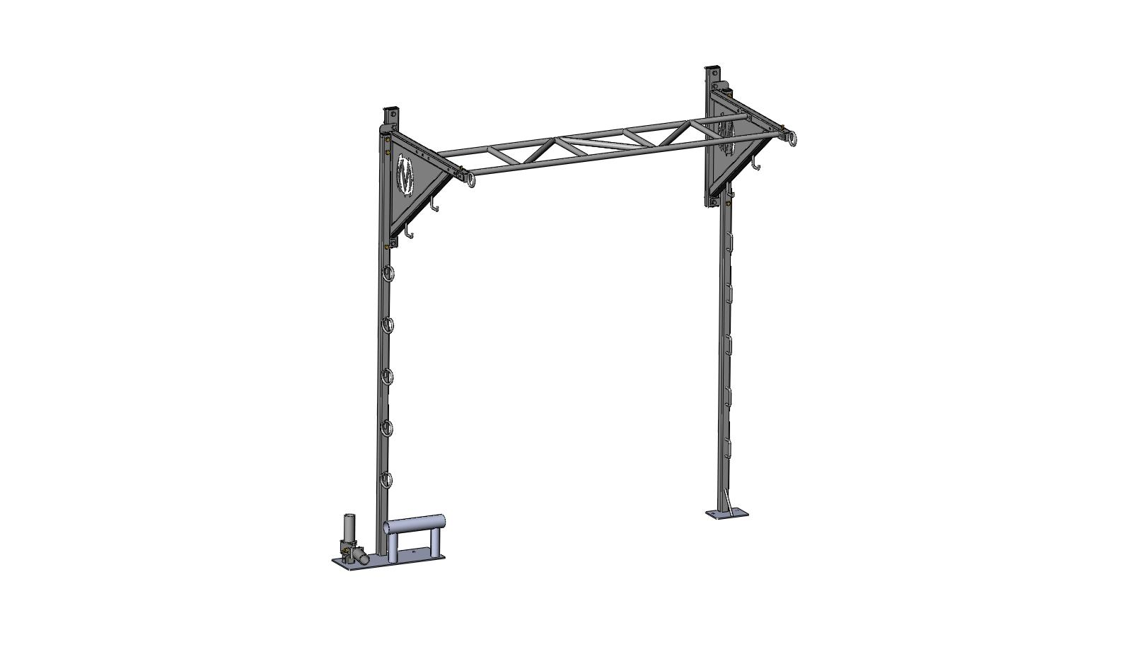 Pull-up Z-bar and Wall Training Post