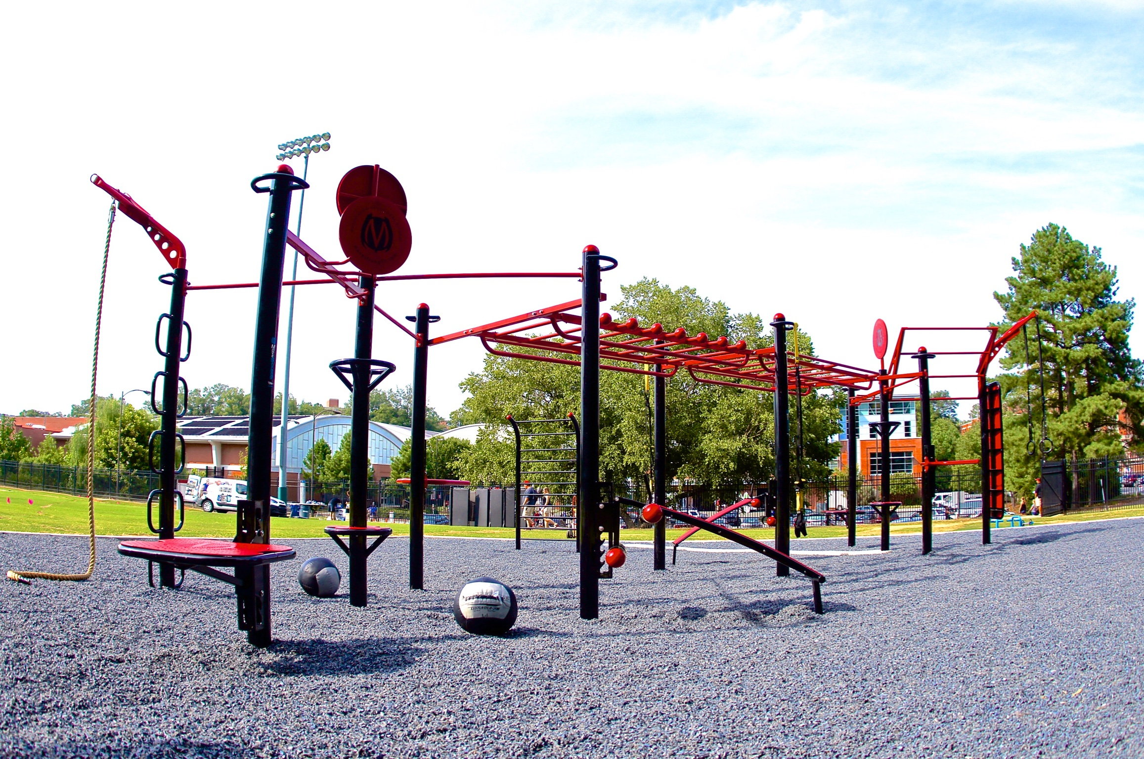 University outdoor fitness area NC State