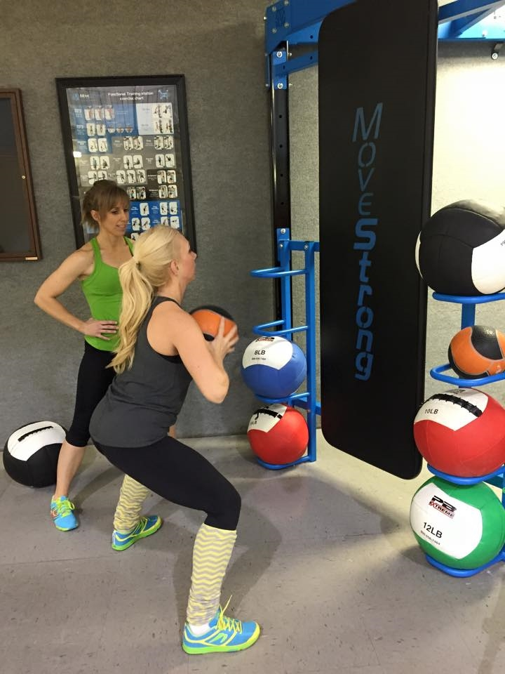 Kick plate feature for Medicine ball throws